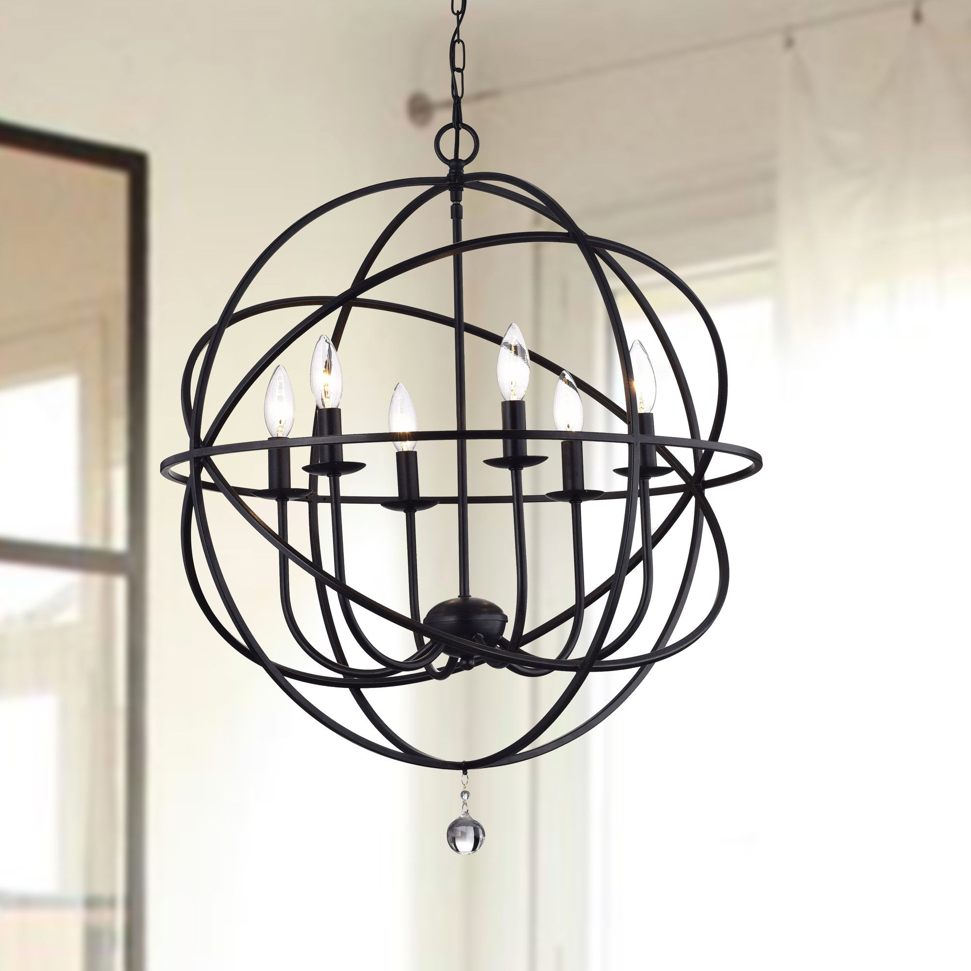 Gregoire 6 Light Globe Chandeliers With Regard To Current Lucia 6 Light Globe Pendant (View 11 of 20)