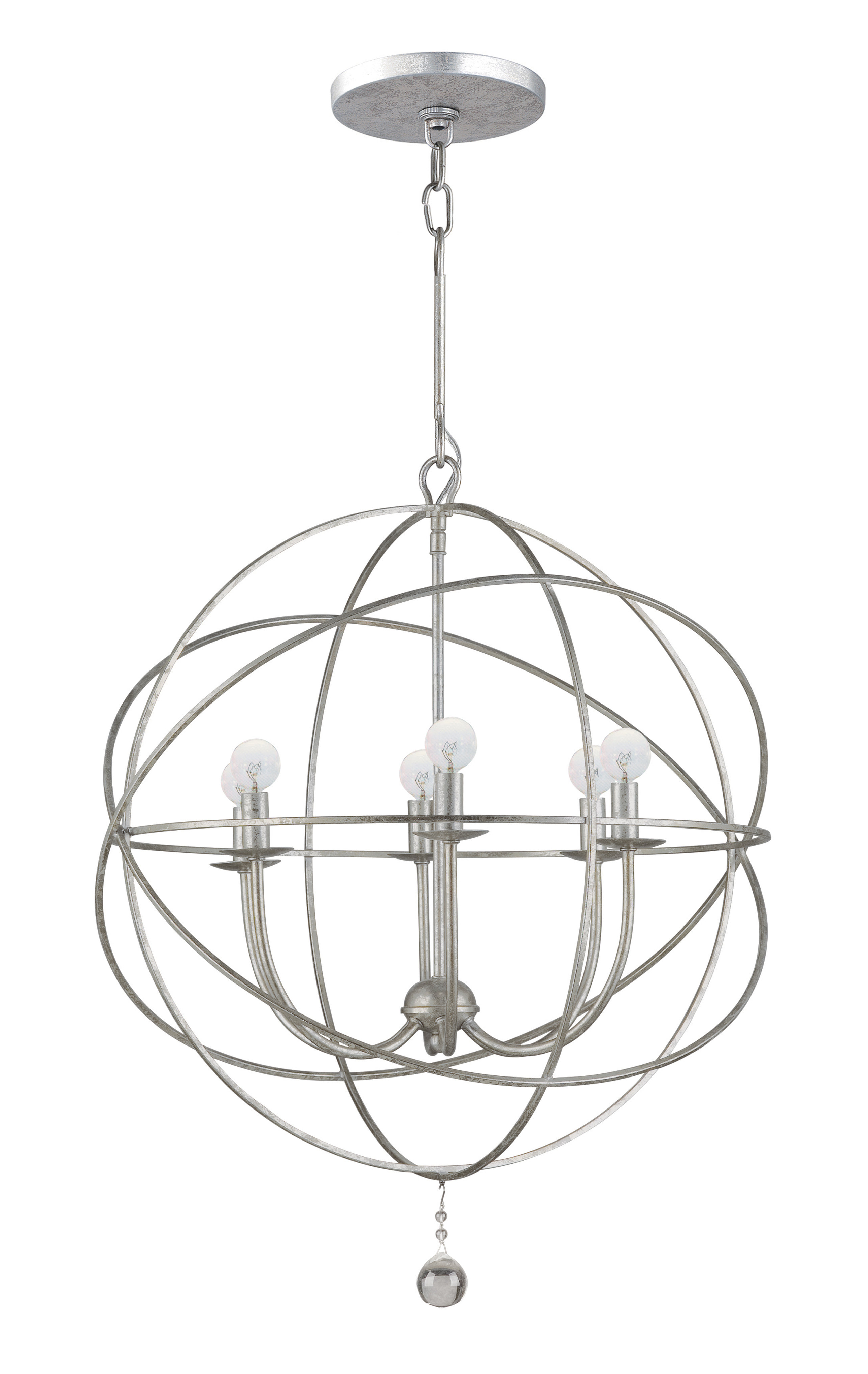 Gregoire 6 Light Globe Chandeliers With Regard To Newest Gregoire 6 Light Globe Chandelier (Gallery 2 of 20)