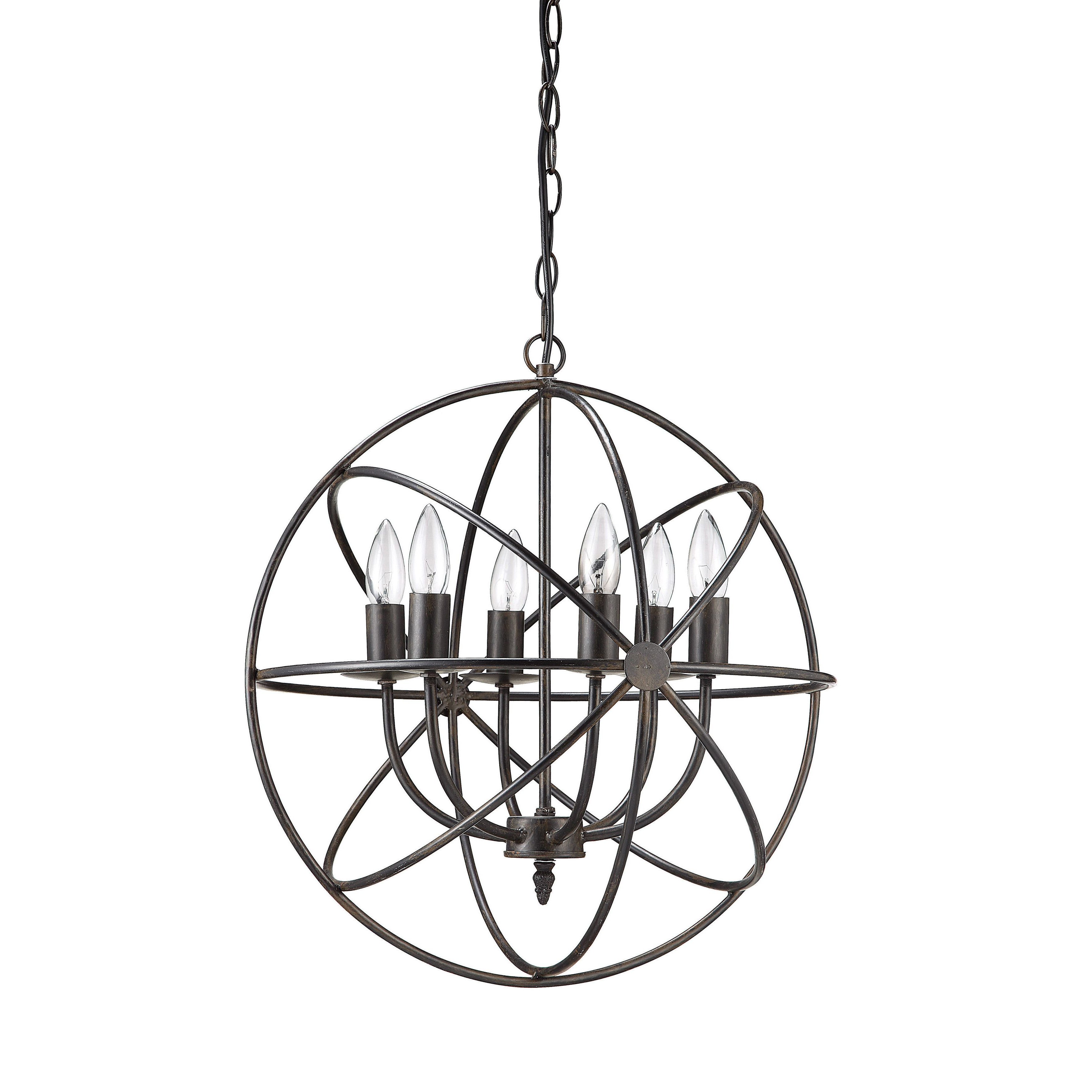 Gregoire 6 Light Globe Chandeliers With Regard To Recent $169.99 Creative Co Op Haven 6 Light Chandelier (Gallery 11 of 20)