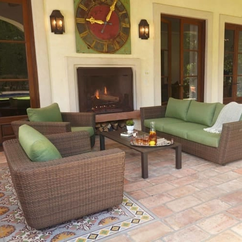 Greta Living Patio Sectionals With Cushions Intended For Most Up To Date Royal Garden 1700040001 Greta 4 Piece Aluminum Framed Wicker Outdoor Conversatio (View 14 of 20)