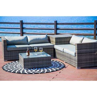 Greta Living Patio Sectionals With Cushions Pertaining To Newest Arms – Patio Conversation Sets – Outdoor Lounge Furniture (View 9 of 20)