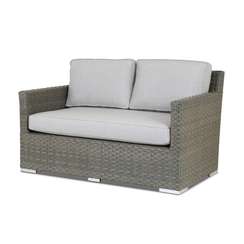 Grosvenor Bamboo Patio Daybeds With Cushions Regarding Most Current Majorca Loveseat With Sunbrella Cushions (View 10 of 20)
