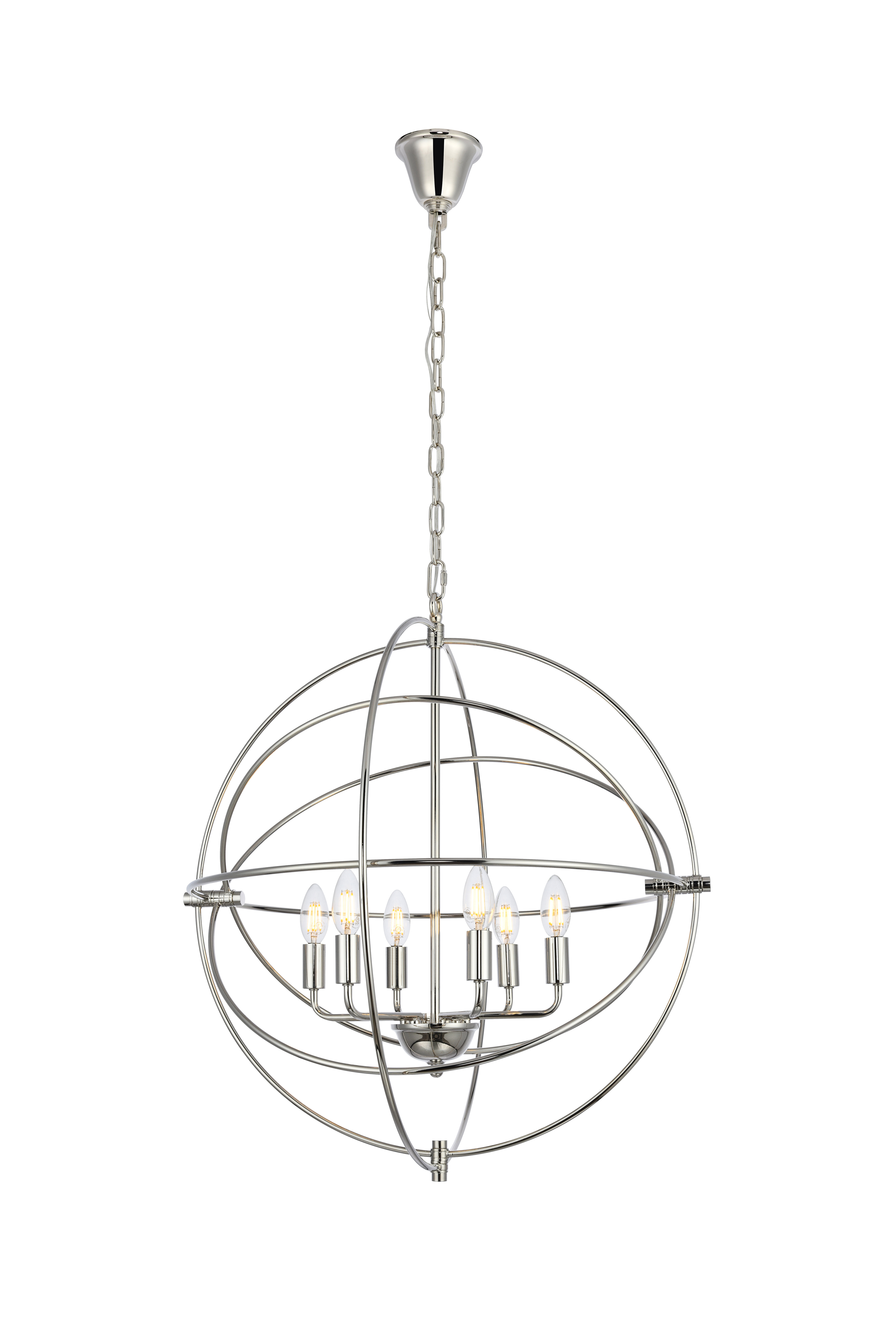 Hamby 6 Light Globe Chandelier With Recent Gregoire 6 Light Globe Chandeliers (Gallery 13 of 20)