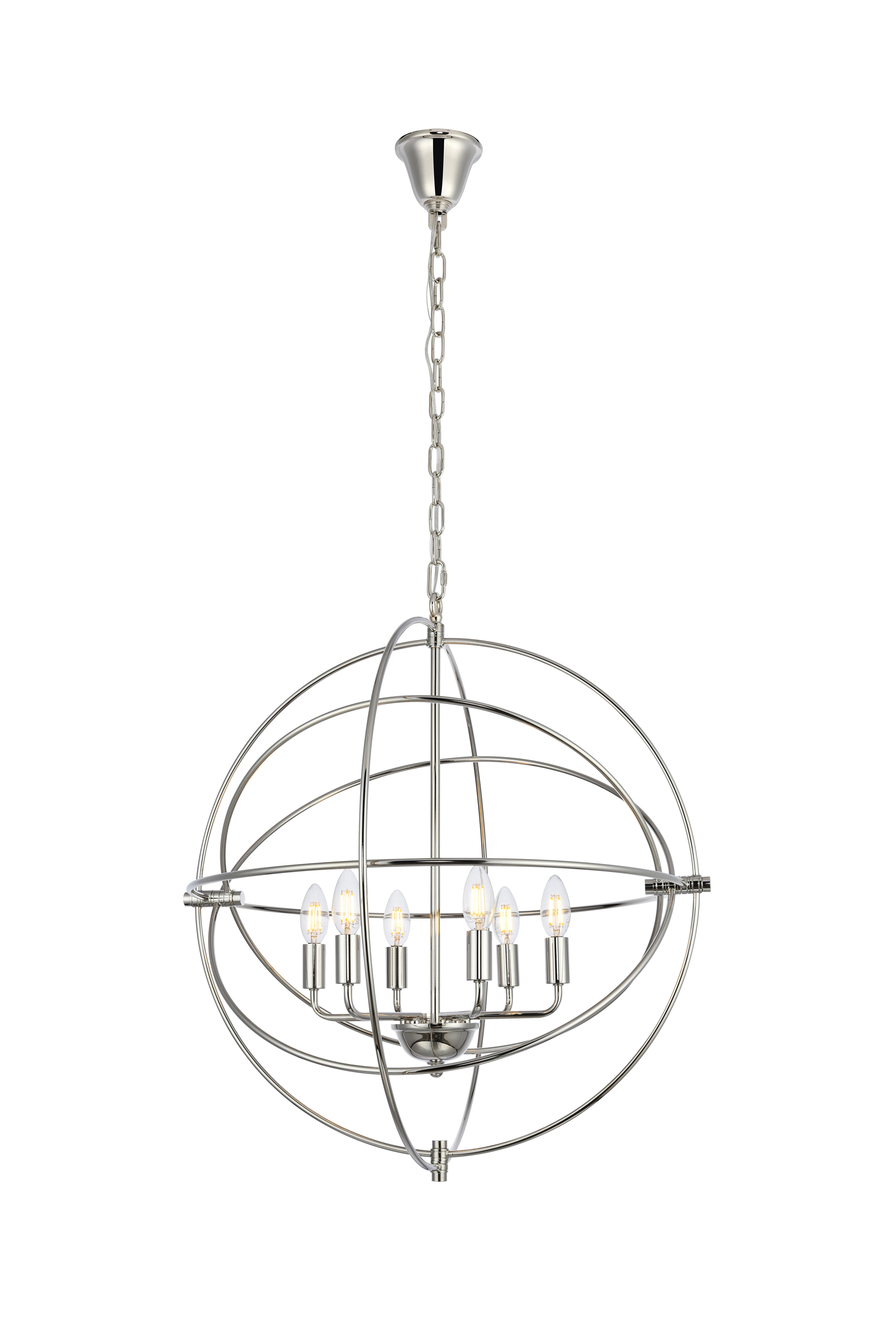 Hamby 6 Light Globe Chandelier With Recent Gregoire 6 Light Globe Chandeliers (Gallery 13 of 20)
