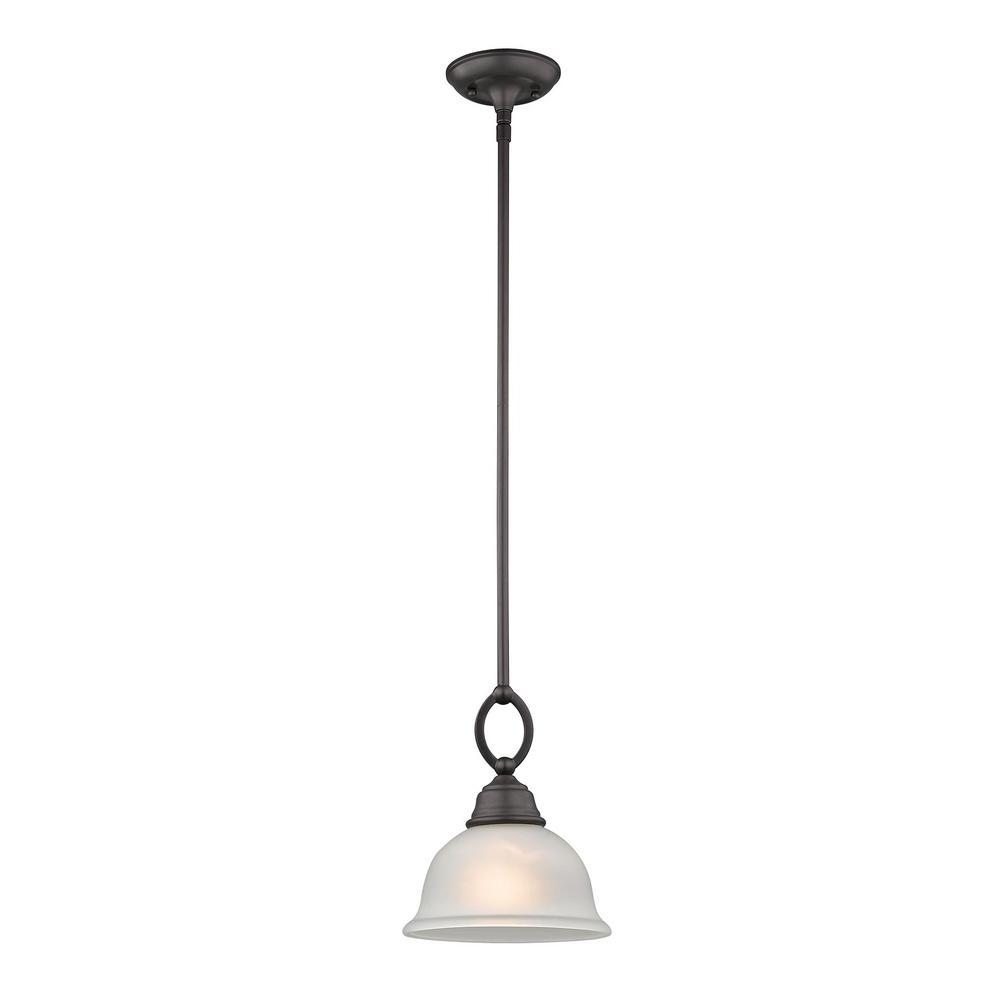 Hamilton 1 Light Single Dome Pendants For Well Liked Titan Lighting Hamilton 1 Light Oil Rubbed Bronze Pendant (View 9 of 20)