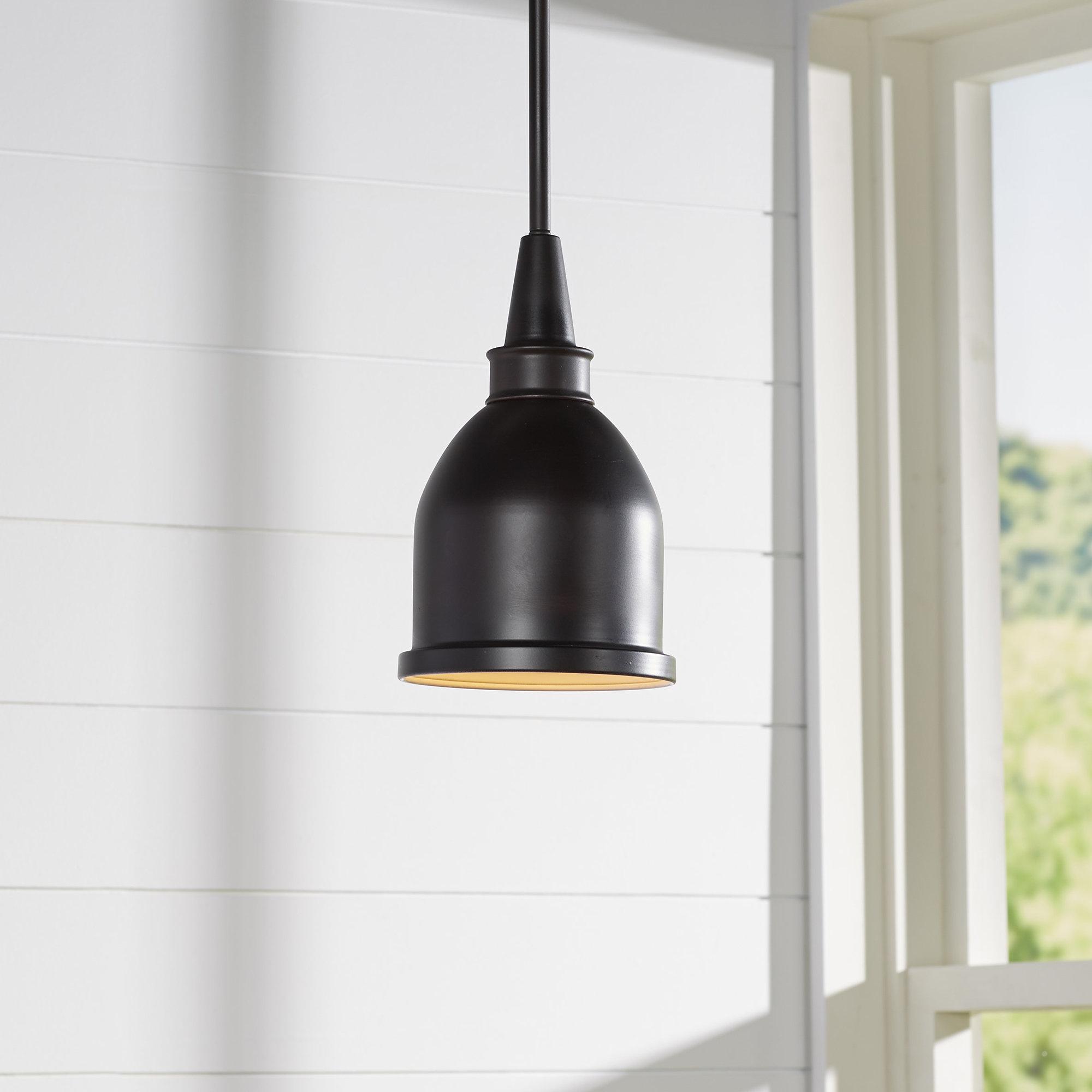 Hamilton 1 Light Single Dome Pendants Intended For Recent Manston 1 Light Single Bell Pendant (View 11 of 20)