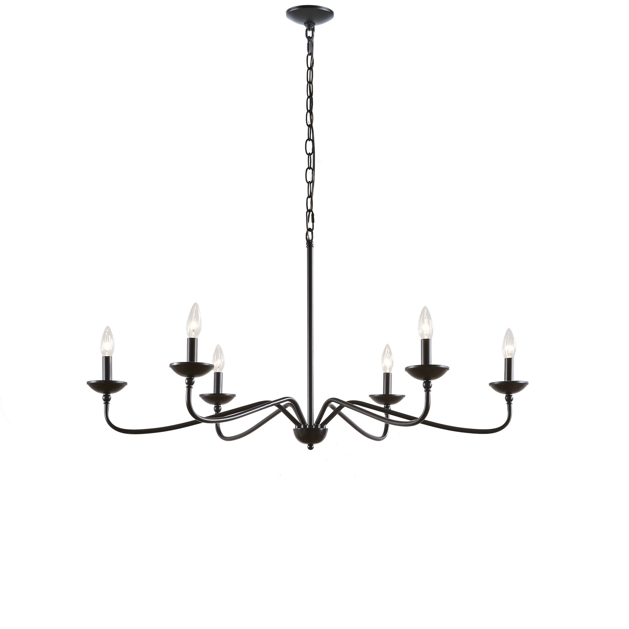 Hamza 6 Light Candle Style Chandeliers For Most Up To Date Scannell 6 Light Candle Style Chandelier (View 7 of 20)