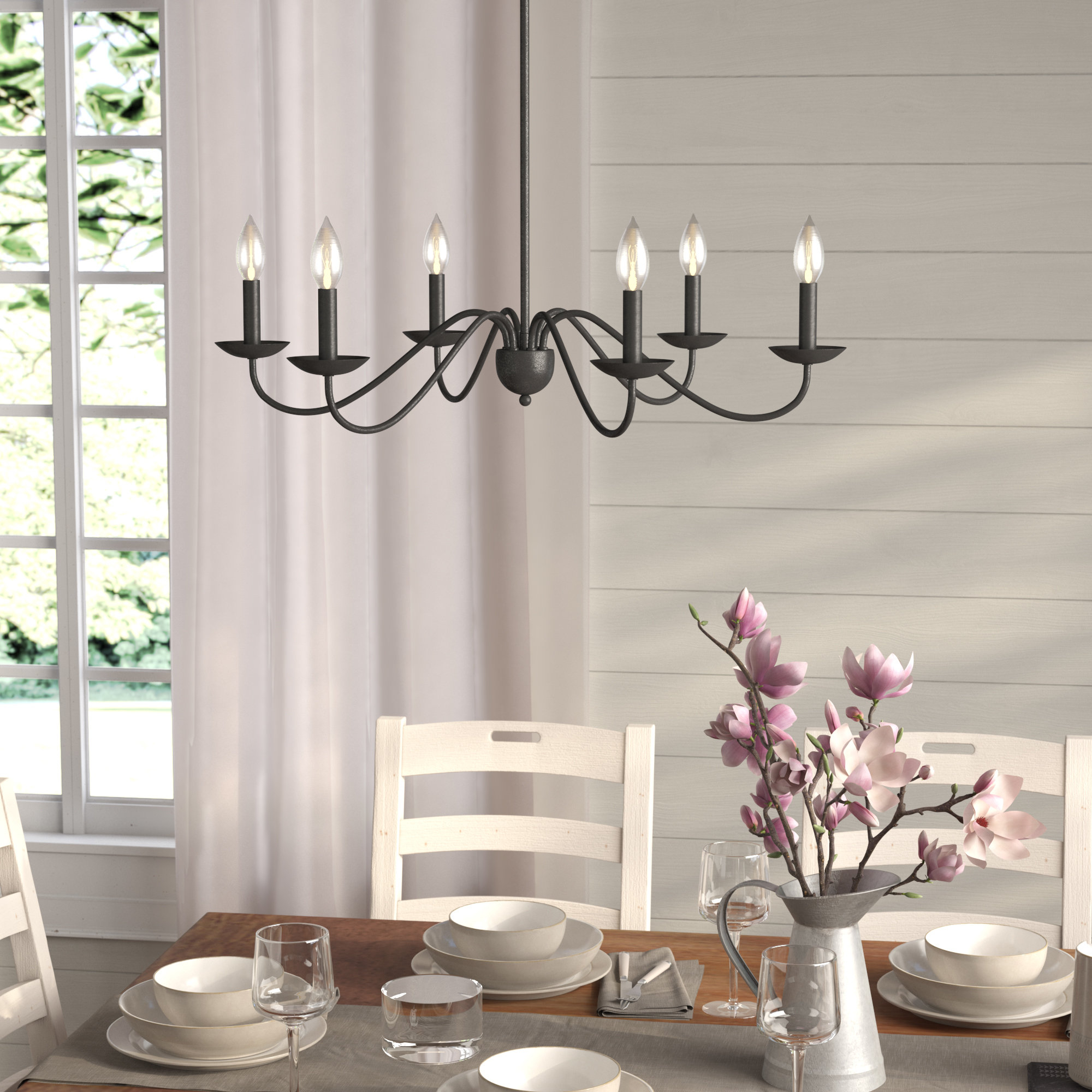 Hamza 6 Light Candle Style Chandeliers Intended For Favorite Perseus 6 Light Candle Style Chandelier (View 9 of 20)