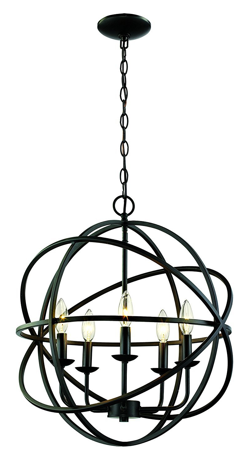 Hankinson 5 Light Globe Chandelier Throughout Best And Newest Verlene Foyer 5 Light Globe Chandeliers (View 6 of 20)