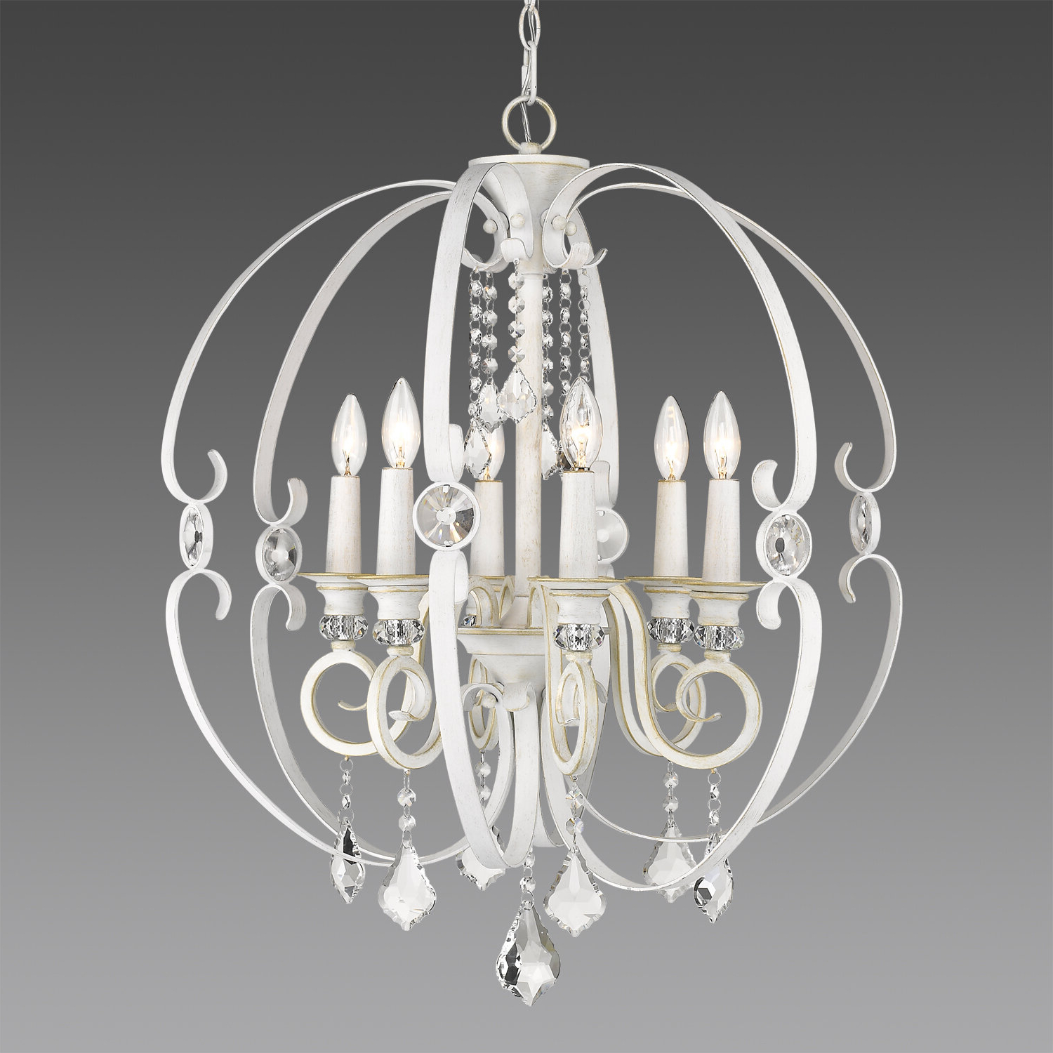 Hardouin 6 Light Globe Chandelier Regarding Fashionable Alden 6 Light Globe Chandeliers (Gallery 13 of 20)