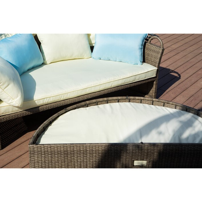 Harlow Patio Daybeds With Cushions Pertaining To Well Known Harlow Patio Daybed With Cushions (View 4 of 20)