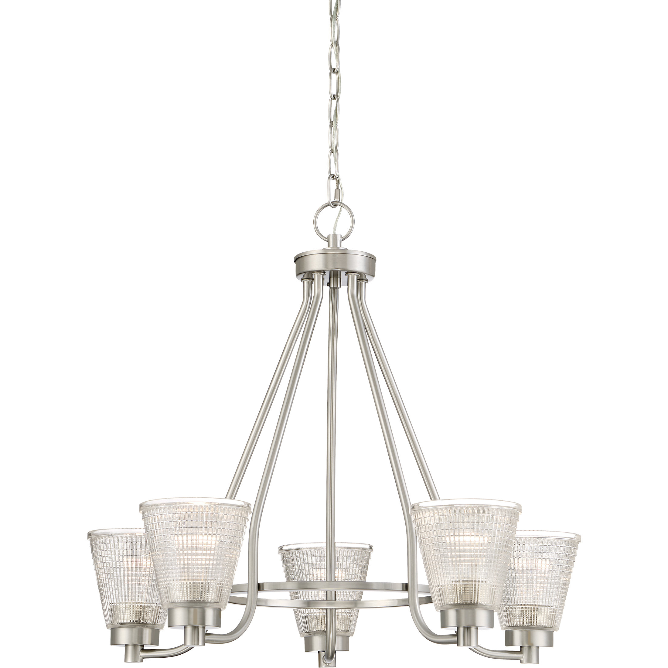 Haskett 5 Light Shaded Chandelier Intended For Widely Used Newent 5 Light Shaded Chandeliers (Gallery 5 of 20)
