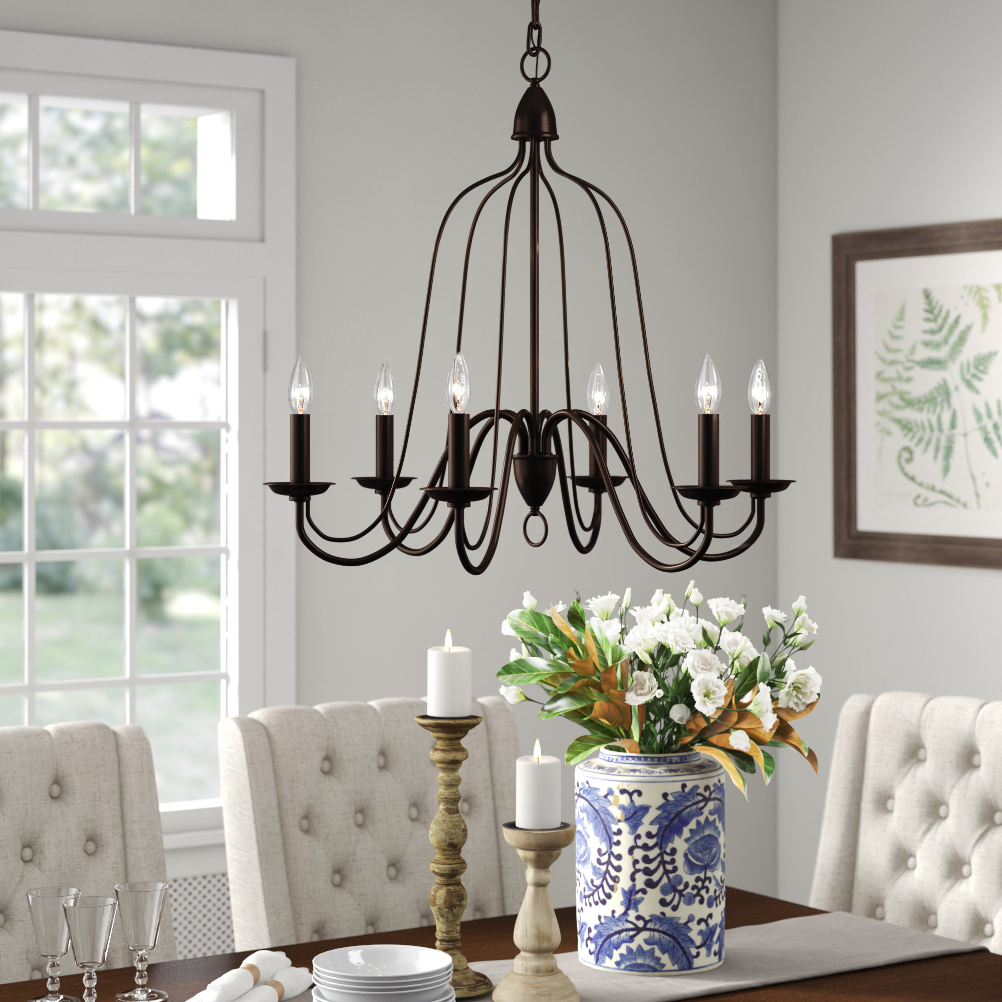 Hatfield 6 Light Candle Style Chandelier In Most Recent Watford 6 Light Candle Style Chandeliers (Gallery 18 of 20)