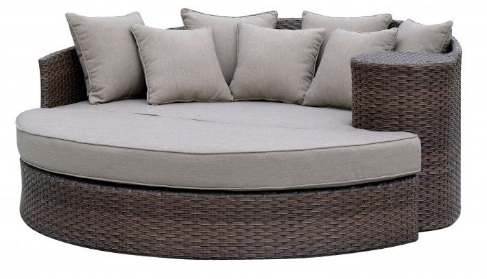 Hatley Patio Daybeds With Cushions Regarding Famous Furniture: Cool Patio Daybed With Alluring Cushions For (View 10 of 20)
