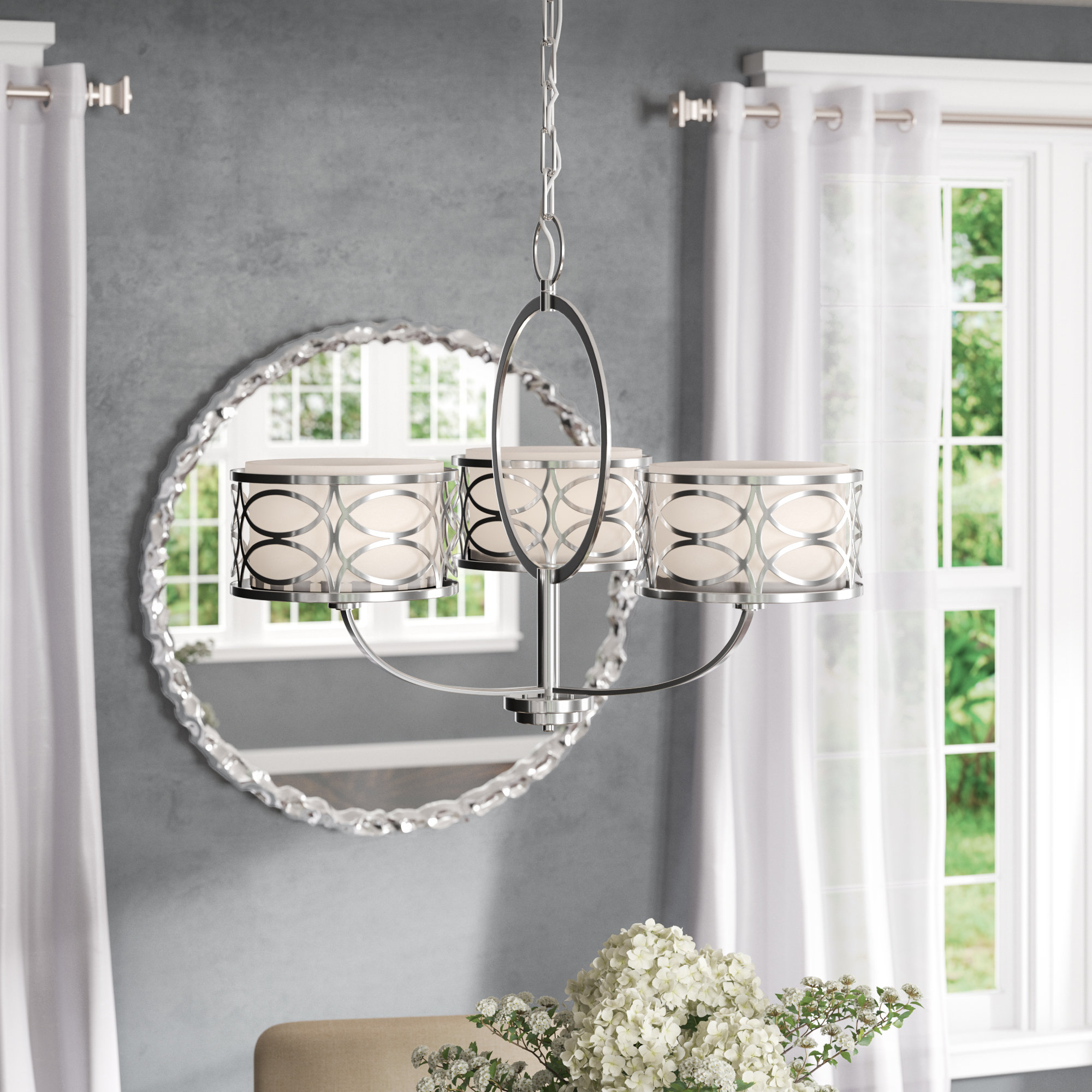 Helina 3 Light Shaded Chandelier With Regard To Popular Helina 1 Light Pendants (View 10 of 20)