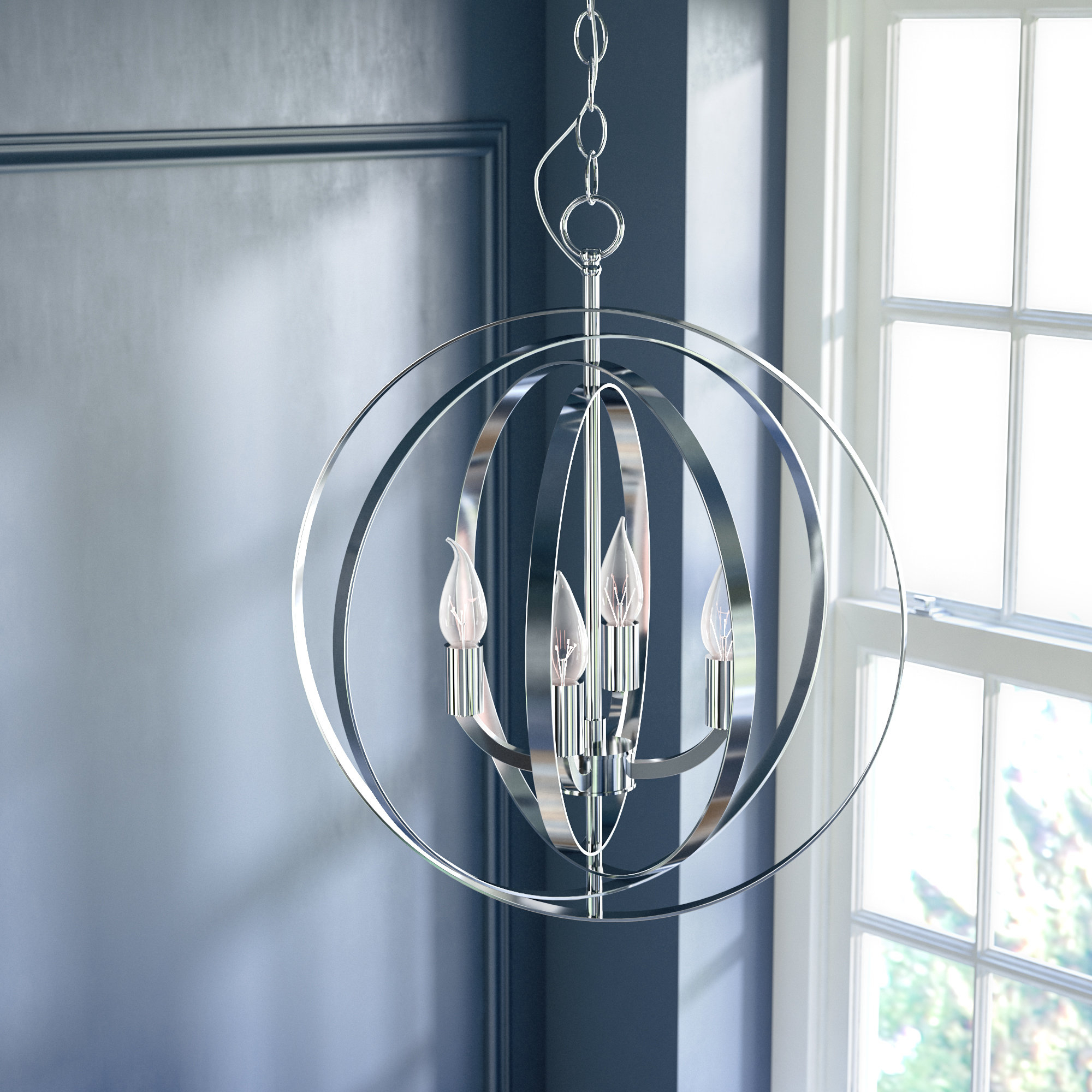 Hendry 4 Light Globe Chandelier Within Most Current Morganti 4 Light Chandeliers (View 5 of 20)