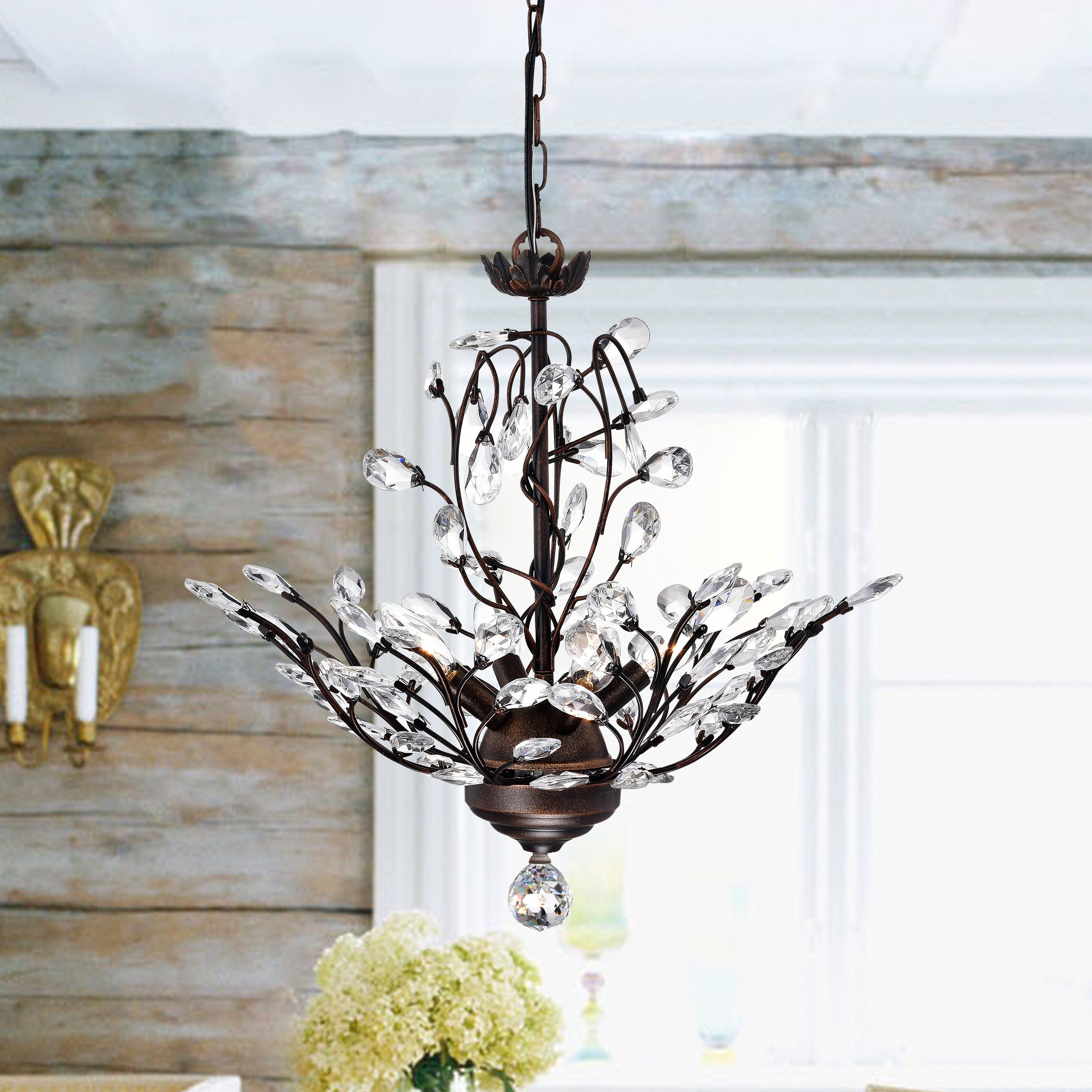 Hermione 5 Light Drum Chandeliers Regarding Most Up To Date Farmhouse & Rustic Willa Arlo Interiors Chandeliers (View 18 of 20)