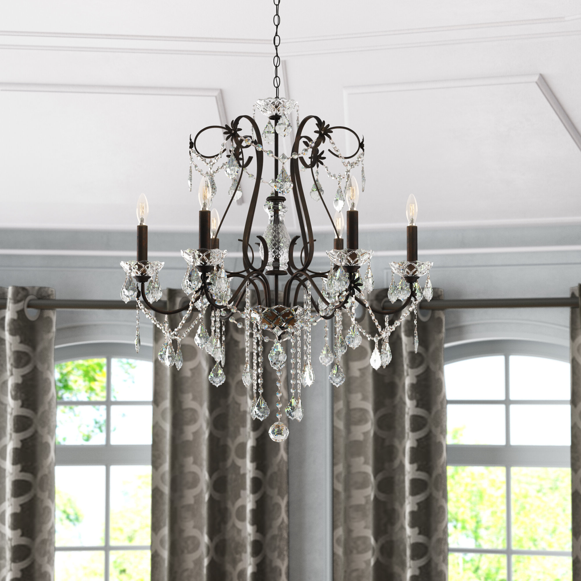Hesse 5 Light Candle Style Chandeliers In Favorite Thao 6 Light Candle Style Chandelier (View 10 of 20)