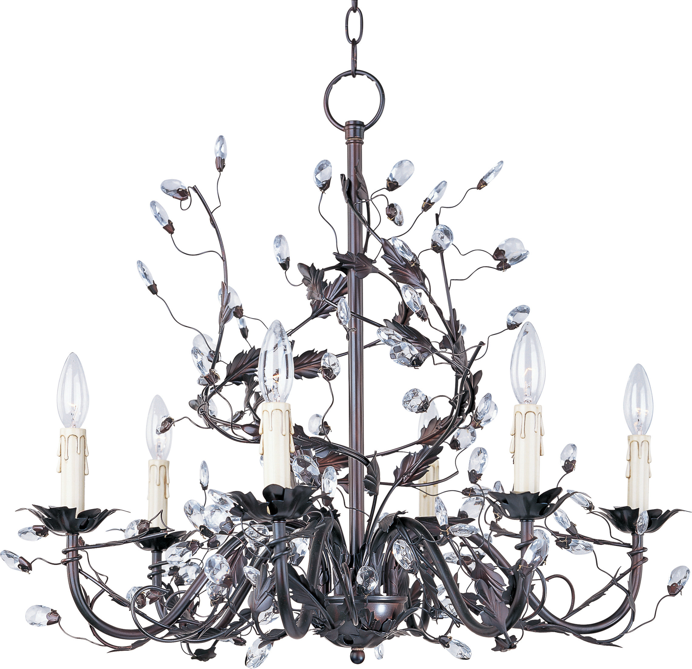 Hesse 5 Light Candle Style Chandeliers With Regard To Recent Kaiya 6 Light Candle Style Chandelier (View 13 of 20)