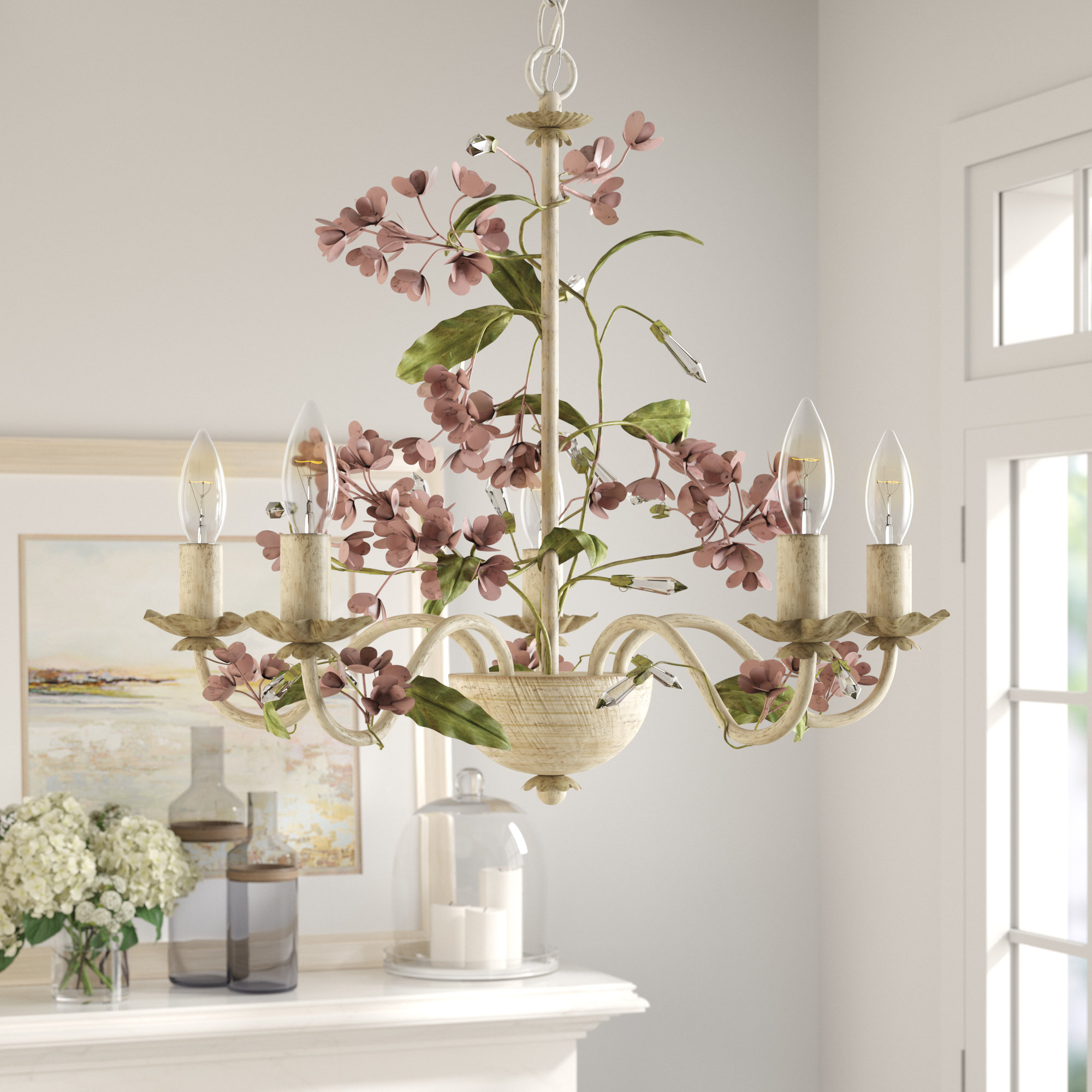 Hesse 5 Light Candle Style Chandeliers Within Most Up To Date 5 Light Candle Style Chandelier (Gallery 2 of 20)