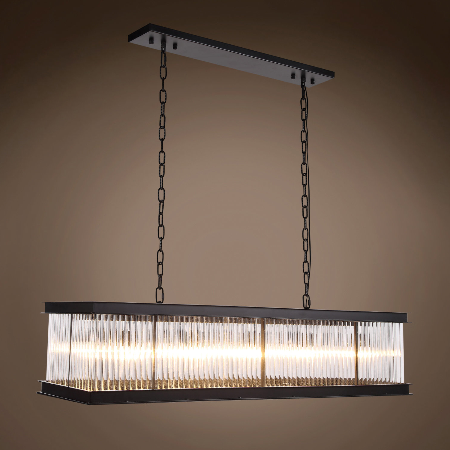 Hewitt 4 Light Square Chandeliers Within 2019 Fulghum 10 Light Square/rectangle Chandelier (View 8 of 20)