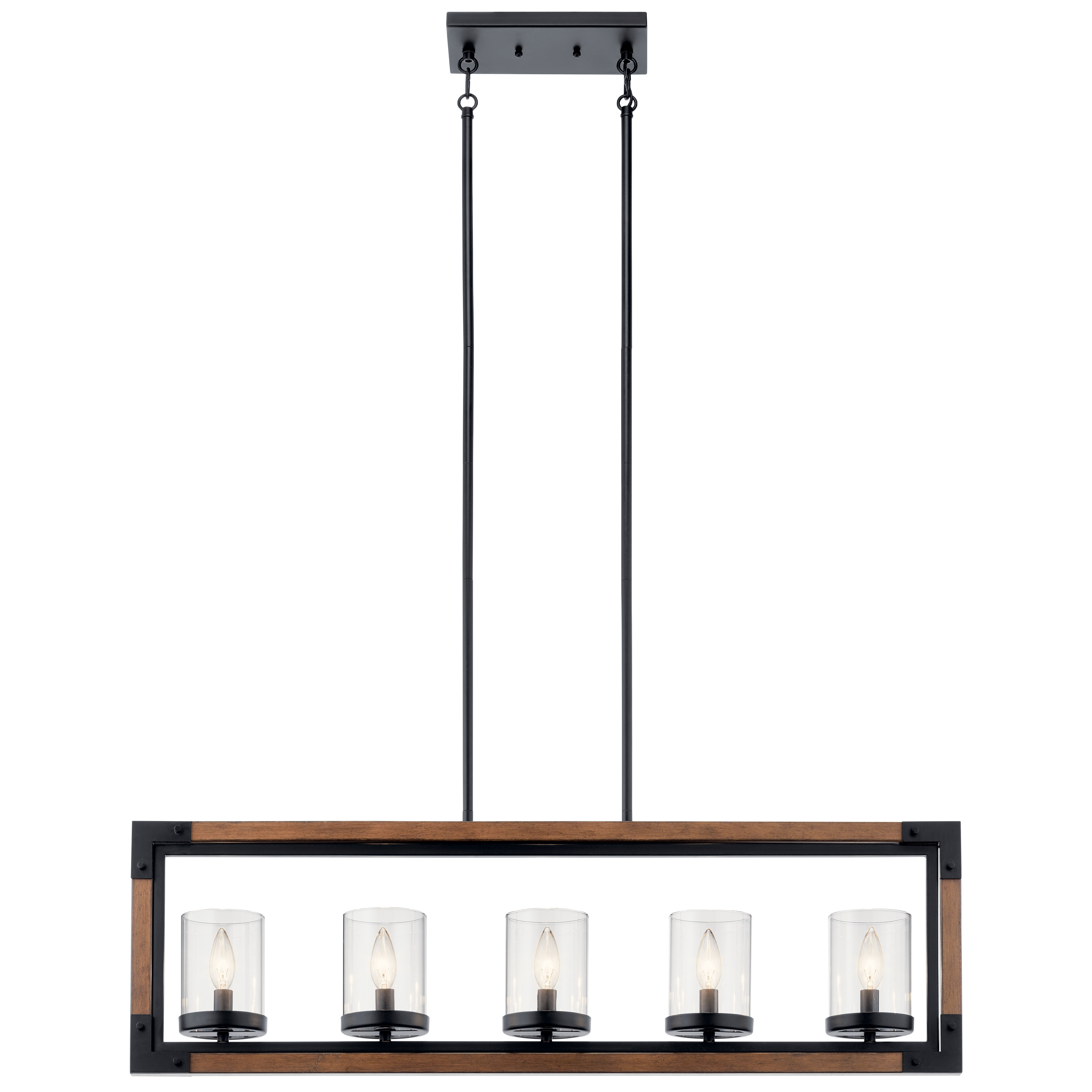 Hinerman 5 Light Kitchen Island Pendants For Best And Newest Moro Linear 5 Light Kitchen Island Pendant (Gallery 14 of 20)