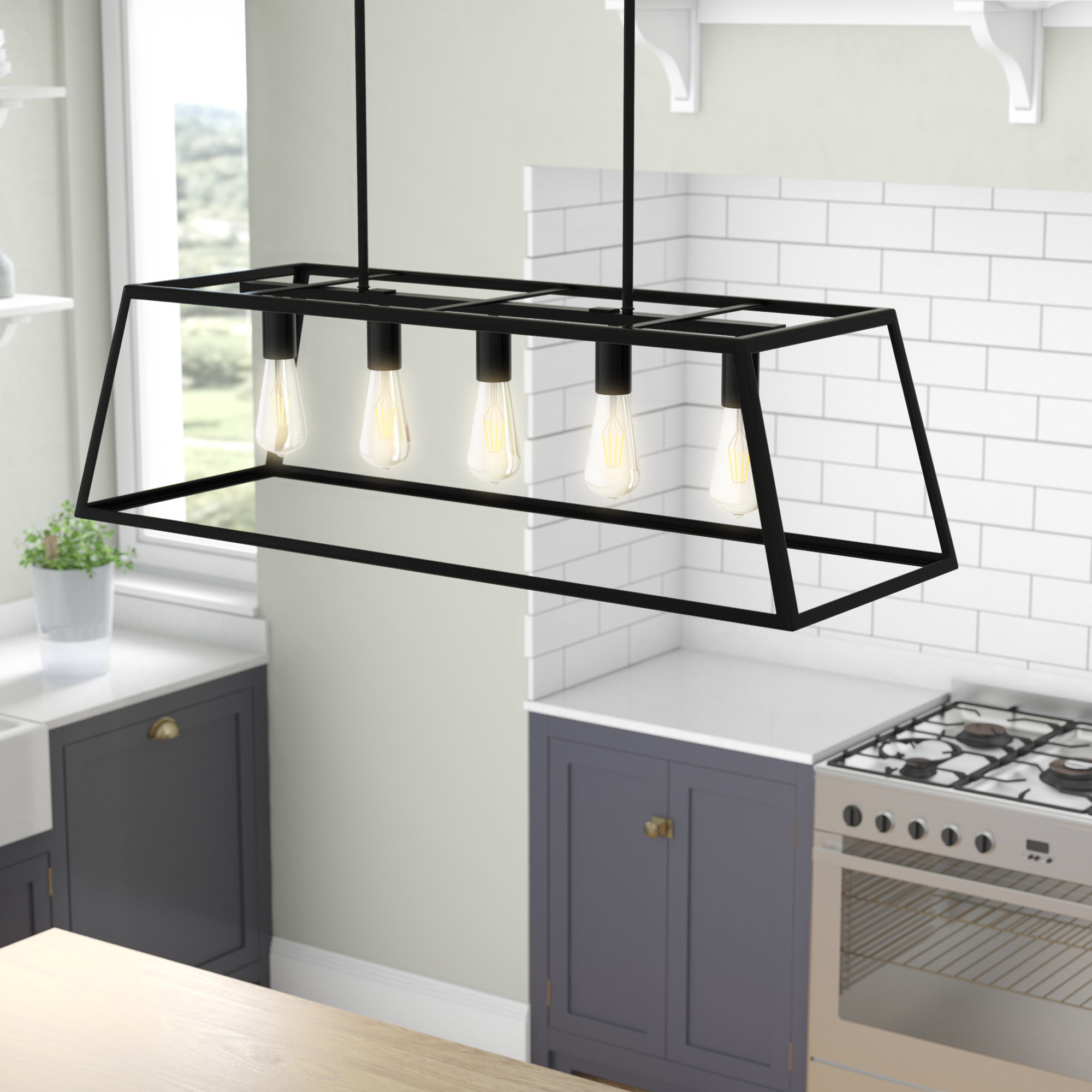 Hinerman 5 Light Kitchen Island Pendants With Regard To Preferred Gracie Oaks Wicklund 5 Light Kitchen Island Pendant (View 5 of 20)