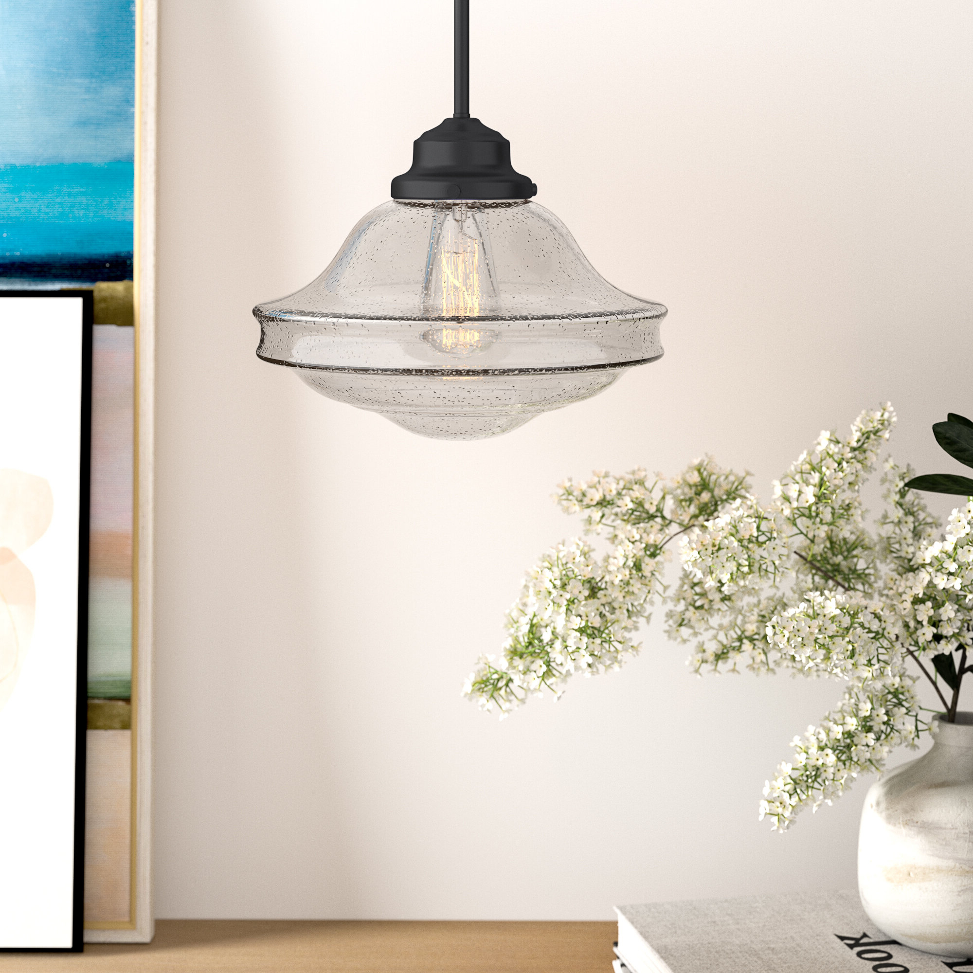 Hirsch 1 Light Single Schoolhouse Pendant For Well Liked Nadine 1 Light Single Schoolhouse Pendants (View 4 of 20)