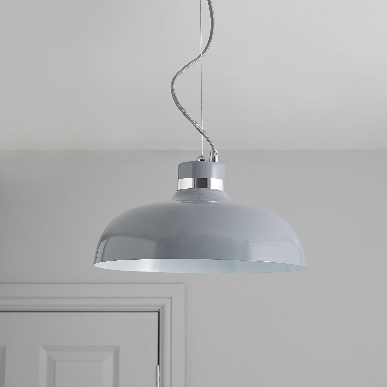 Holman Grey Pendant Ceiling Light (View 16 of 20)