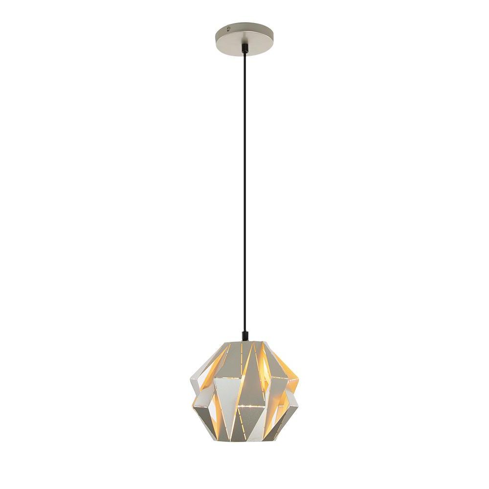 Home Decorators Collection 1 Light Metal Silver Mini Pendant In Famous Prange 1 Light Single Globe Pendants (Gallery 18 of 20)