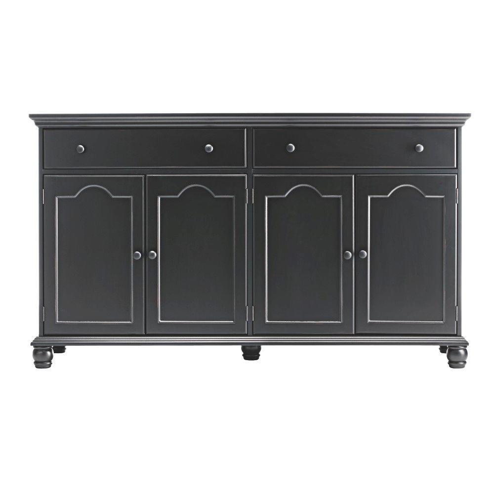 Home Decorators Collection Harwick Black Buffet In 2019 Regarding Recent Hewlett Sideboards (View 12 of 20)