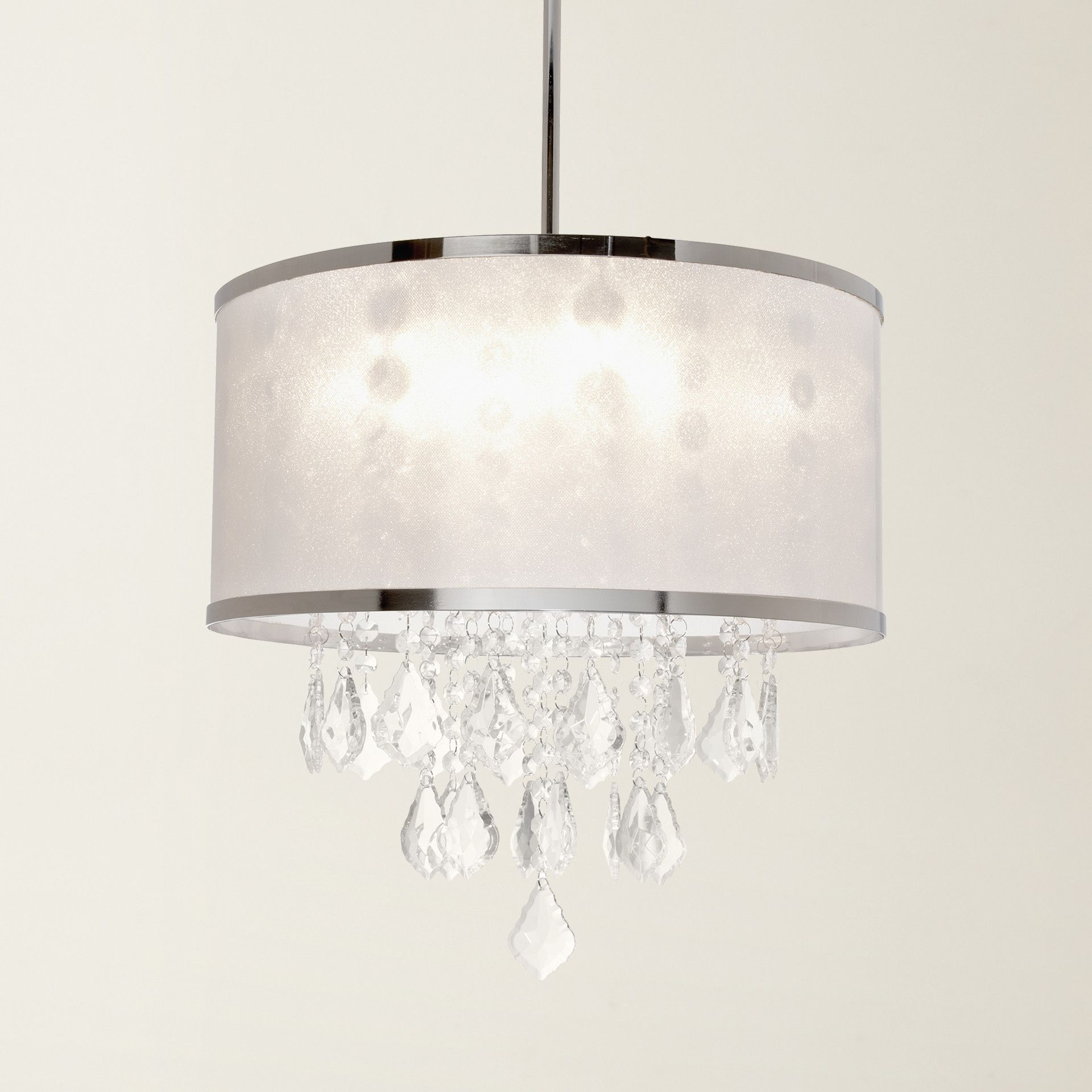 House Of Hampton® Leibowitz 4 Light Drum Chandelier Inside Fashionable Aurore 4 Light Crystal Chandeliers (View 16 of 20)