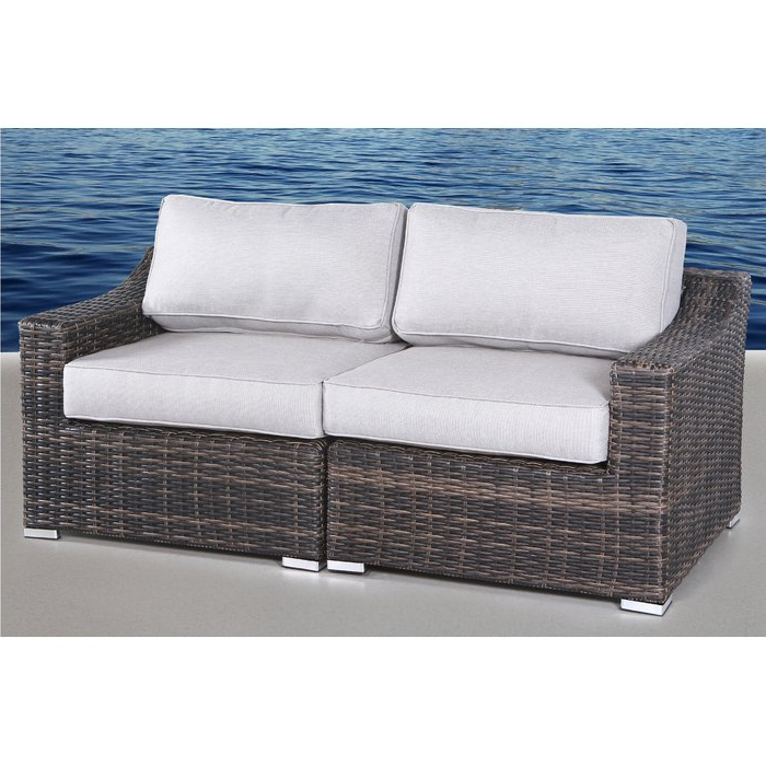 Huddleson Loveseat With Cushion Pertaining To Popular Pantano Loveseats With Cushions (View 6 of 20)