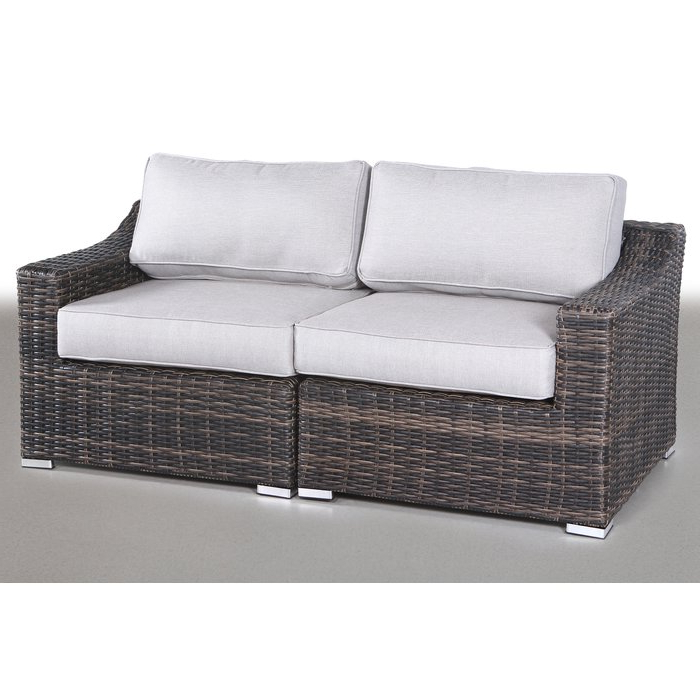 Huddleson Loveseat With Cushion With Well Known Loggins Loveseats With Cushions (Gallery 11 of 20)