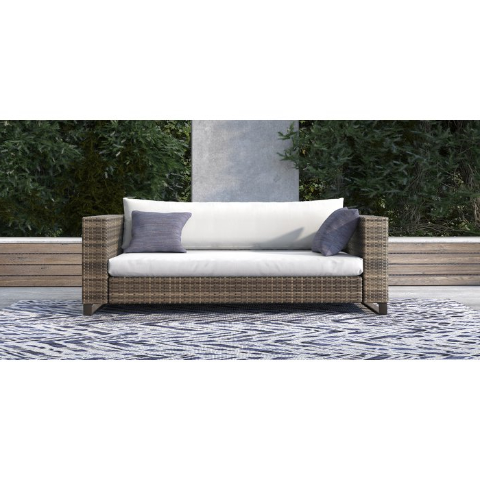 Huddleson Loveseats With Cushion Intended For Well Liked Oceanside Outdoor Wicker Loveseat With Cushions (View 19 of 20)