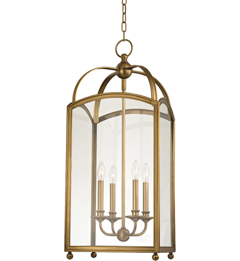 Hudson Valley – Millbrook 14 Inch 4 Light Pendant Regarding Current Millbrook 5 Light Shaded Chandeliers (View 6 of 20)