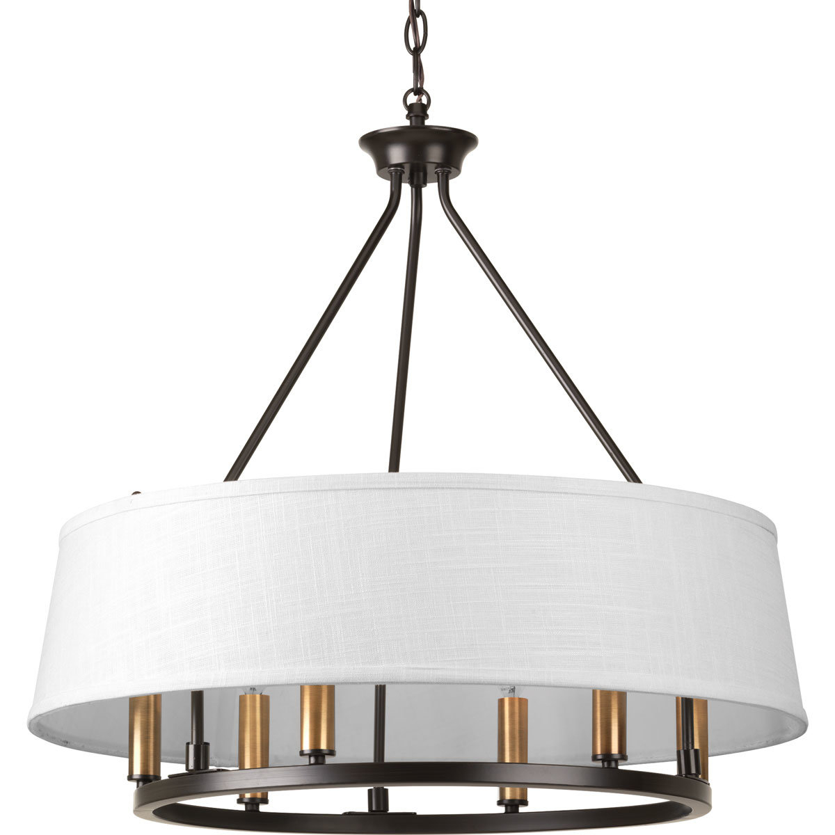 Hughett 6 Light Drum Chandelier For Widely Used Breithaup 4 Light Drum Chandeliers (View 11 of 20)