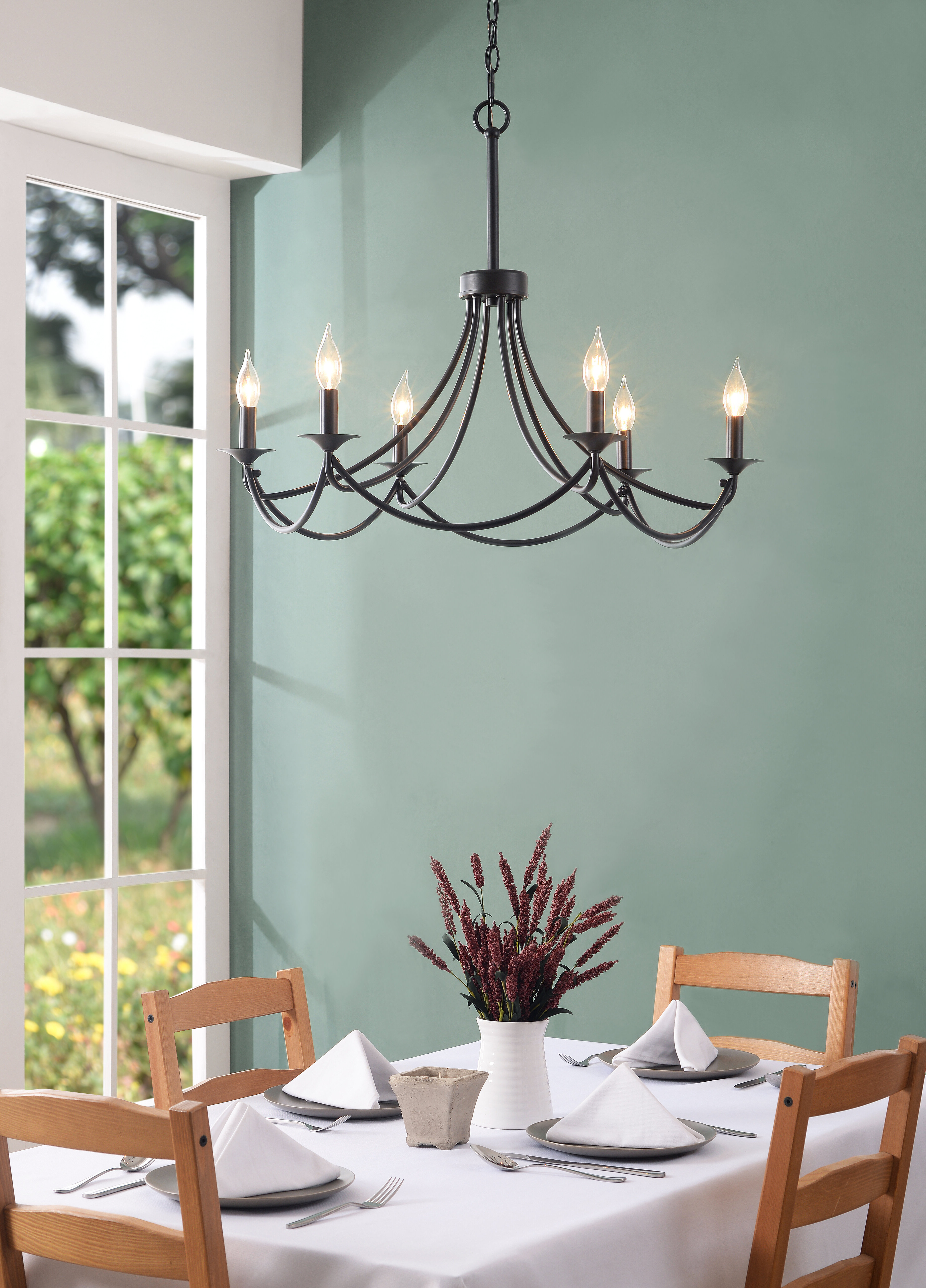 Hunley 6 Light Candle Style Chandelier Regarding Trendy Hamza 6 Light Candle Style Chandeliers (Gallery 19 of 20)