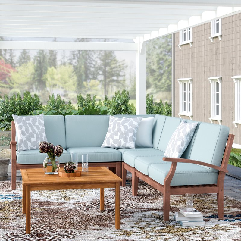 Hursey Patio Sofas With Regard To Widely Used Hursey Patio Sectional (View 9 of 20)