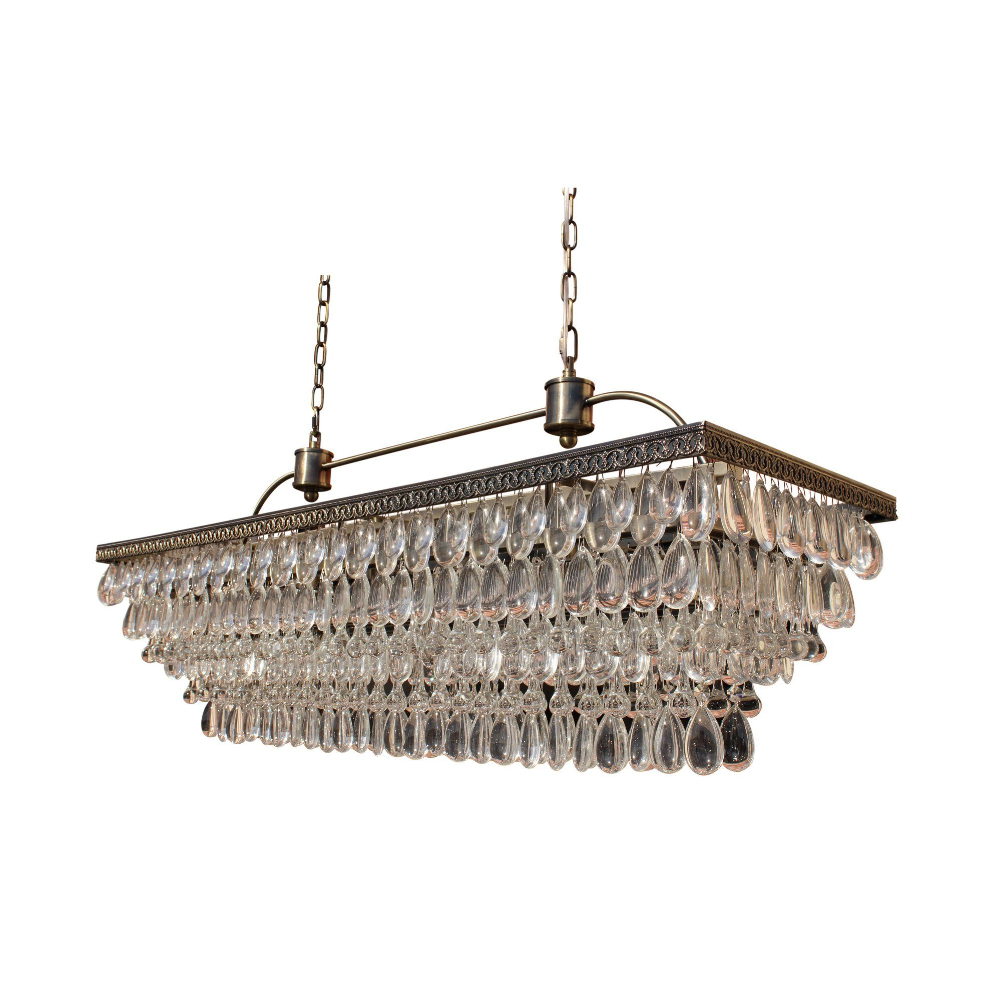 Huskar Bronze 4 Light Pendant With Crystal Shade – Artofit With Regard To Most Popular Verdell 5 Light Crystal Chandeliers (View 7 of 20)