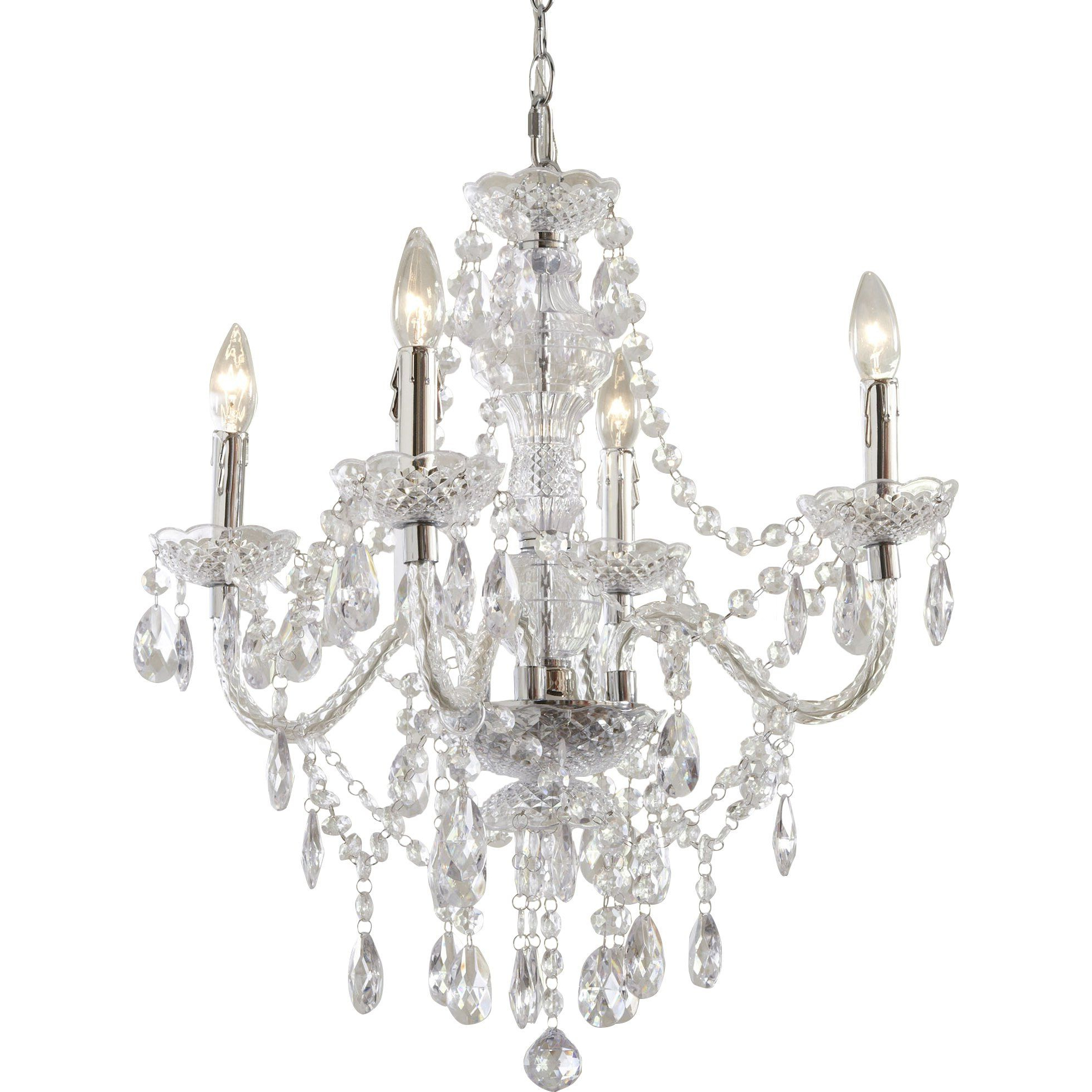 Ice Palace 4 Light Crystal Chandelier (Gallery 16 of 20)