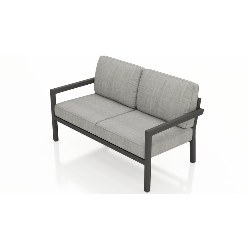 Iliana Patio Loveseat With Sunbrella Cushions With Regard To Best And Newest Grosvenor Bamboo Patio Daybeds With Cushions (View 11 of 20)