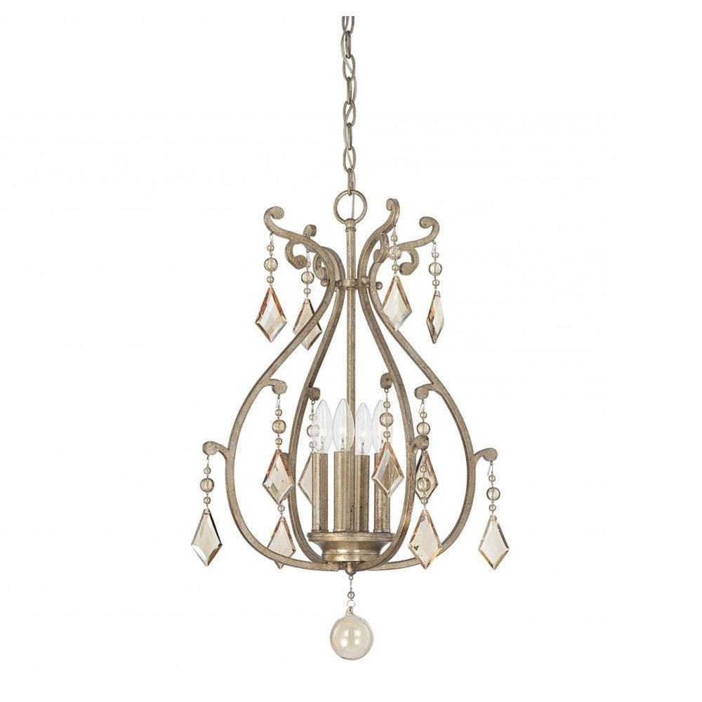 Illumine Hermione 4 Light Oxidized Silver Pendant Within Trendy Hermione 5 Light Drum Chandeliers (View 13 of 20)