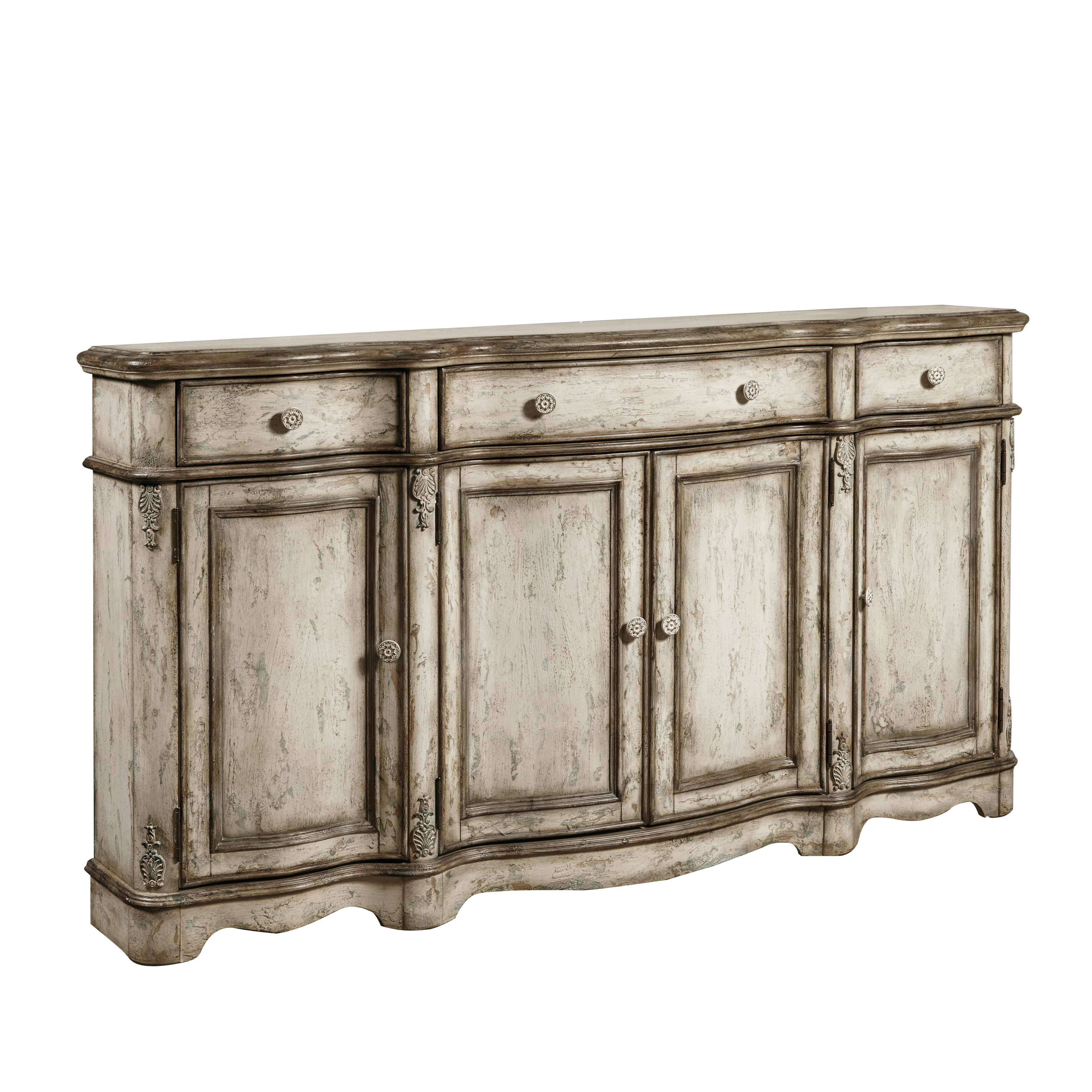 Ilyan Traditional Wood Sideboard Pertaining To Most Popular Deville Russelle Sideboards (View 13 of 20)