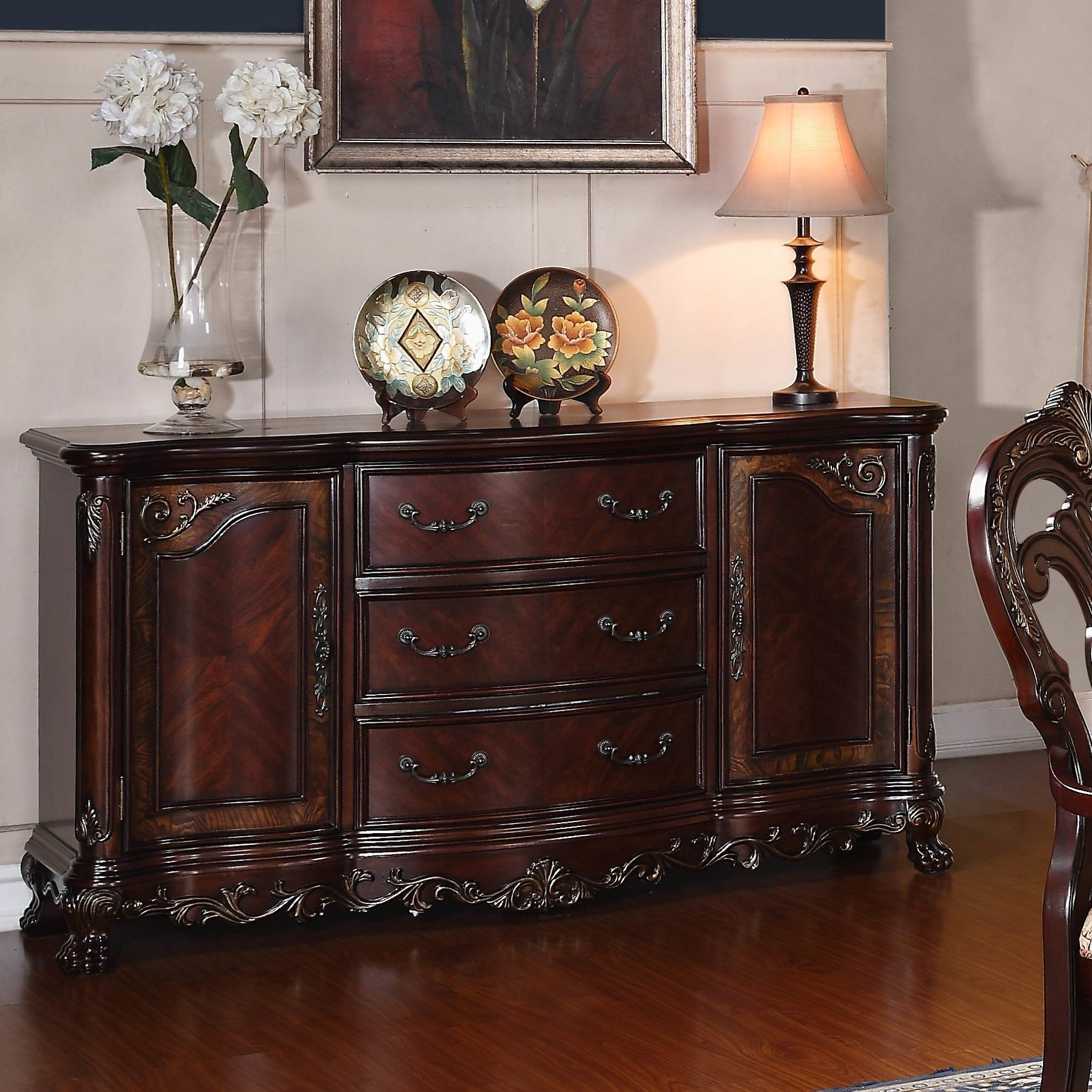Ilyan Traditional Wood Sideboards With Newest Chalus Sideboard (View 12 of 20)