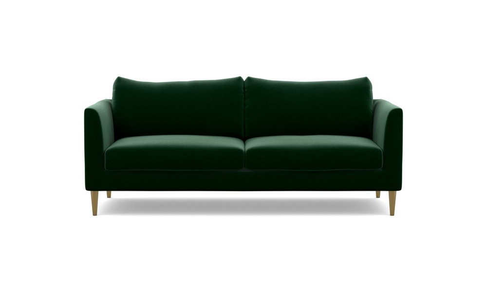 Interior Define Owens Fabric Loveseat Sofa Emerald Throughout Latest Owens Loveseats With Cushion (View 6 of 20)