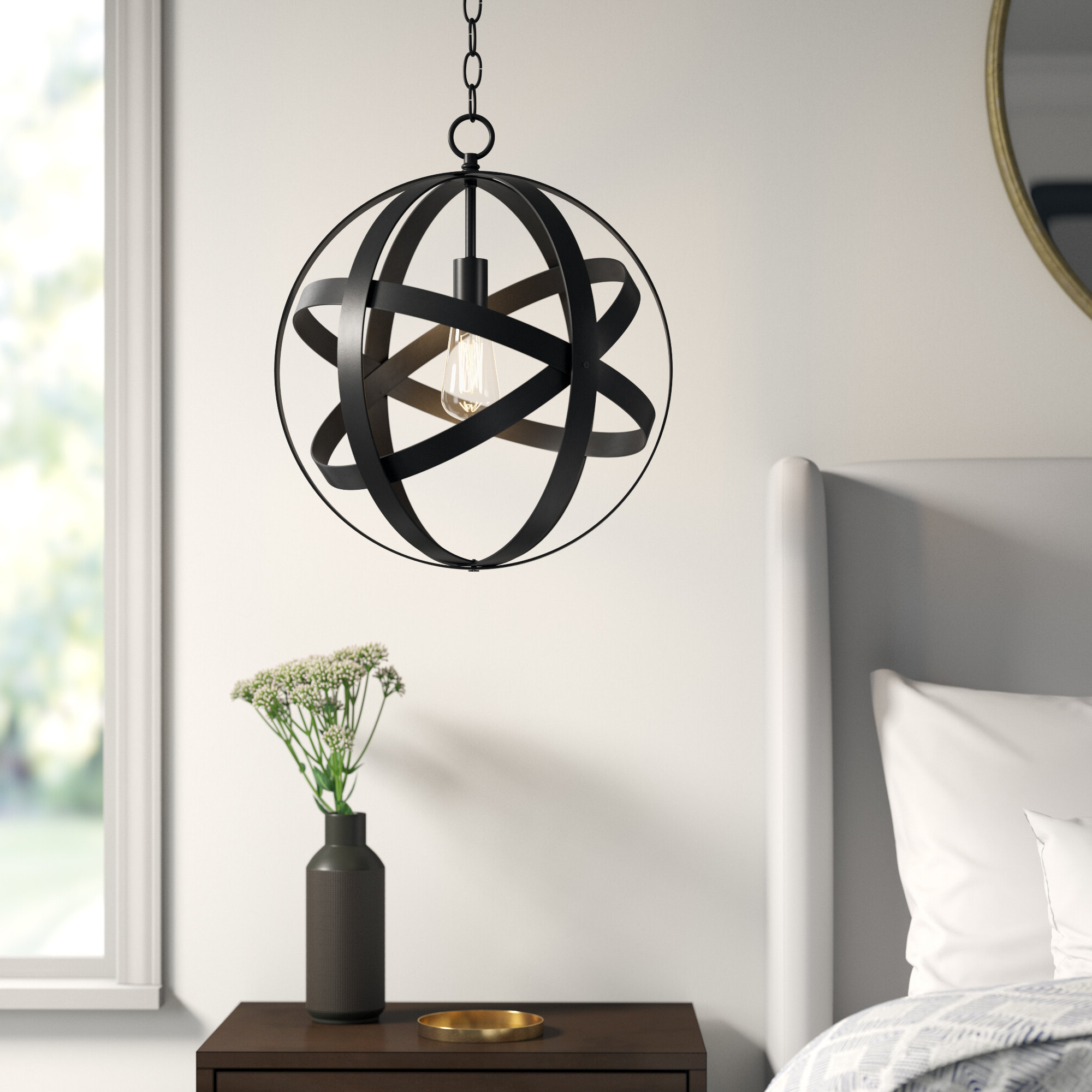 Irwin 1 Light Single Globe Pendants Regarding Popular Ealey 1 Light Globe Pendant (View 7 of 20)