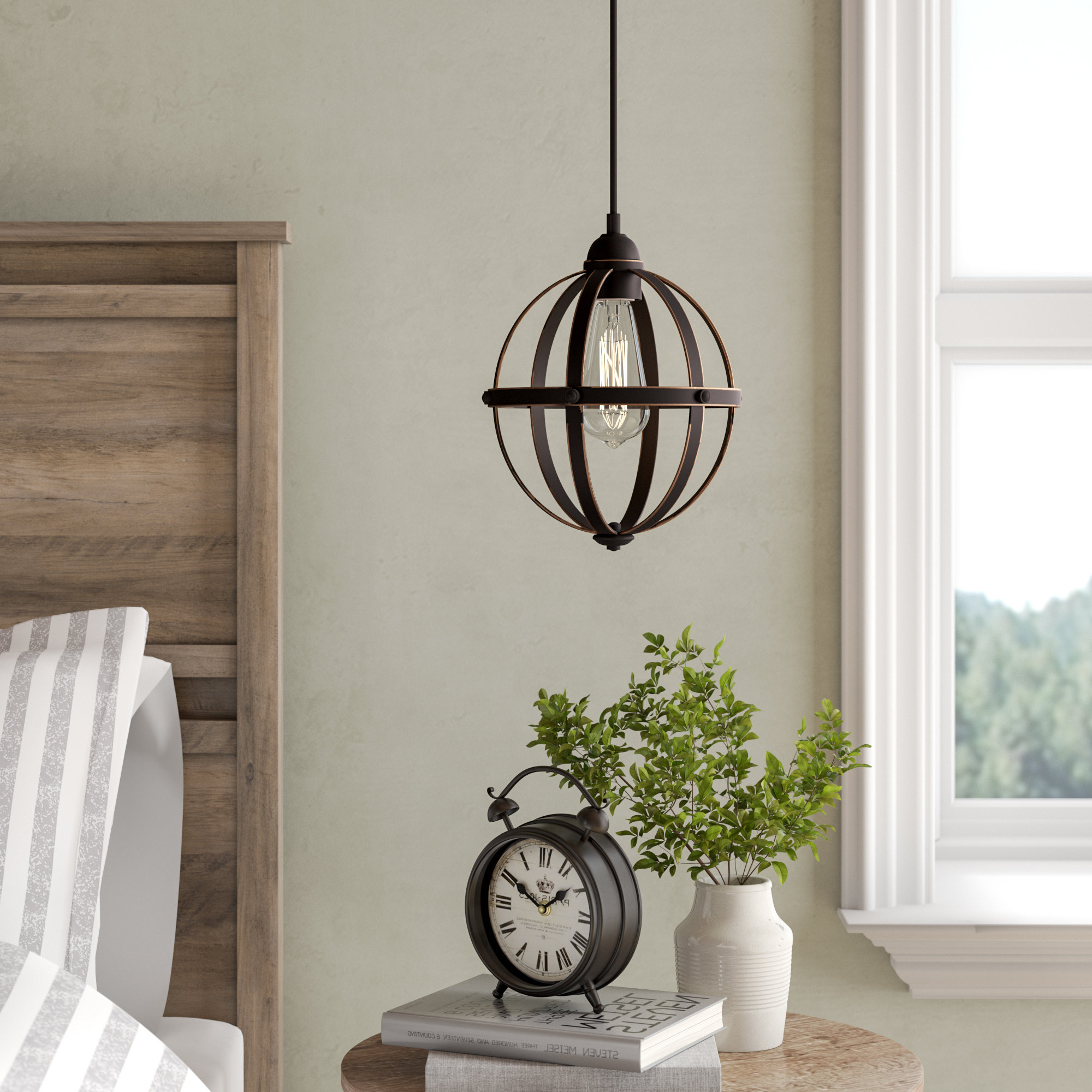Irwin 1 Light Single Globe Pendants With Regard To 2020 Genna 1 Light Single Globe Pendant (View 8 of 20)