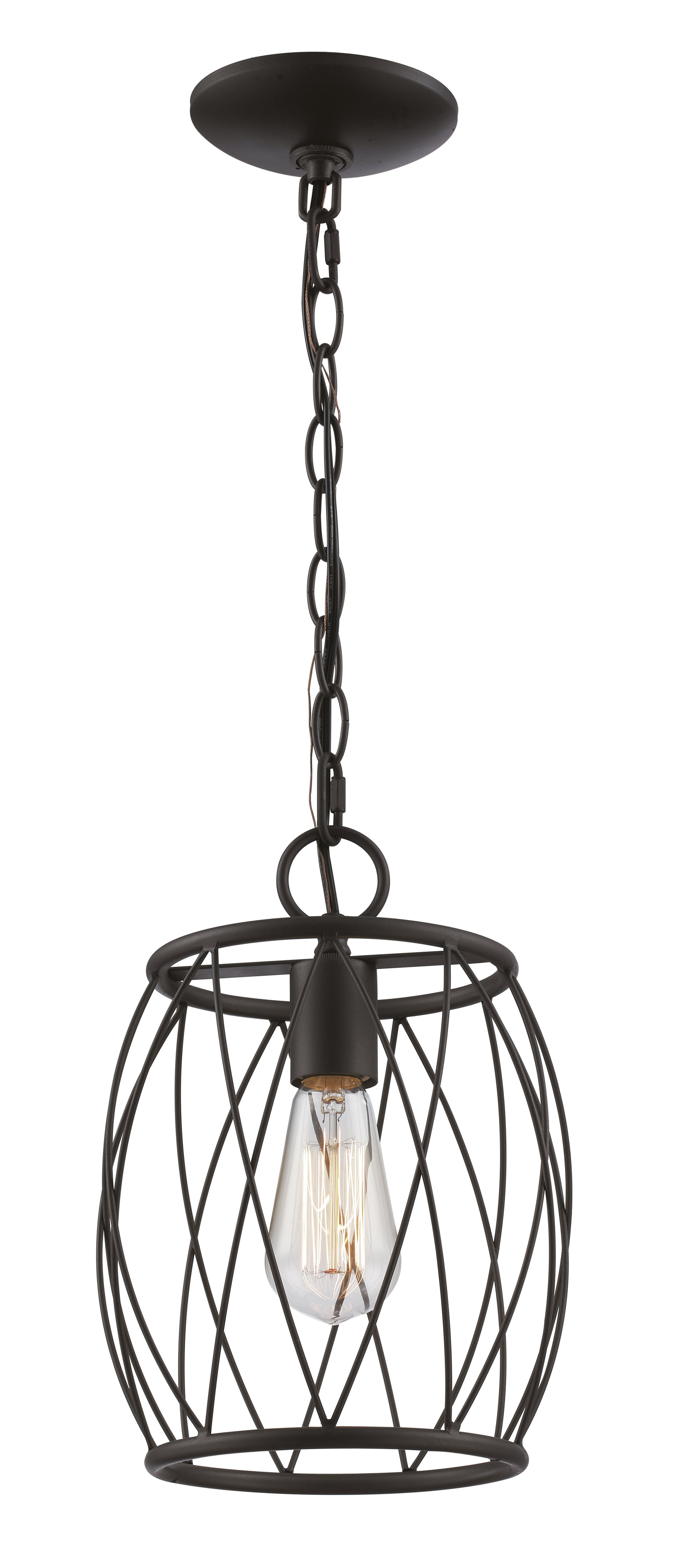 Irwin 1 Light Single Globe Pendants With Regard To Recent Wrought Studio Poynter 1 Light Single Cylinder Pendant (View 9 of 20)