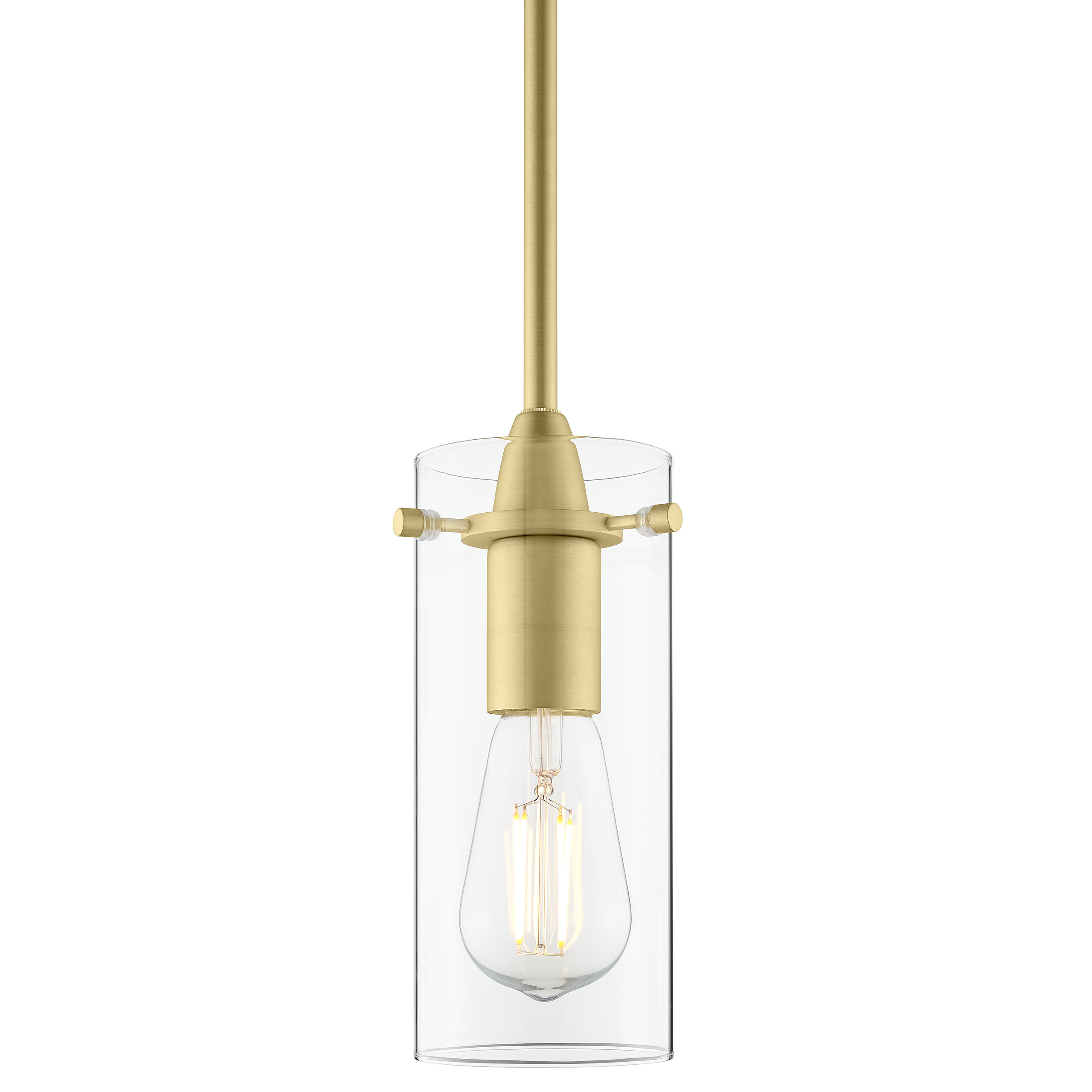 Ivy Bronx Angelina 1 Light Cylinder Pendant With Regard To Famous Jayce 1 Light Cylinder Pendants (View 6 of 20)